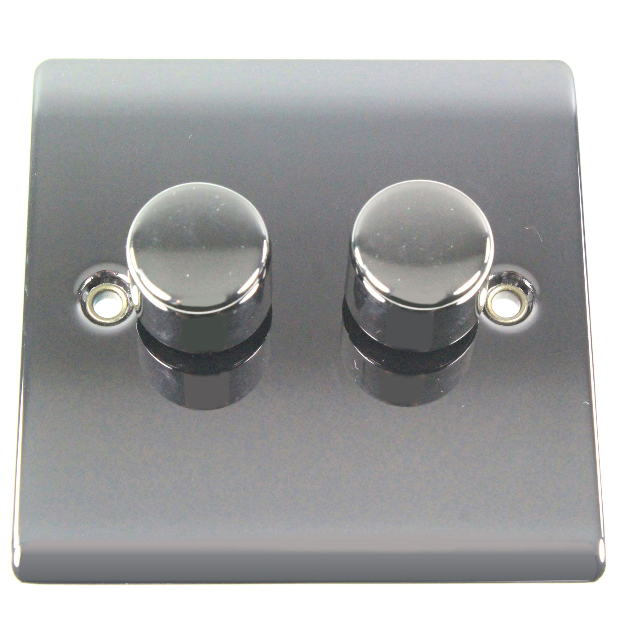 2 Gang 2 Way Black Nickel Dimmer Switch