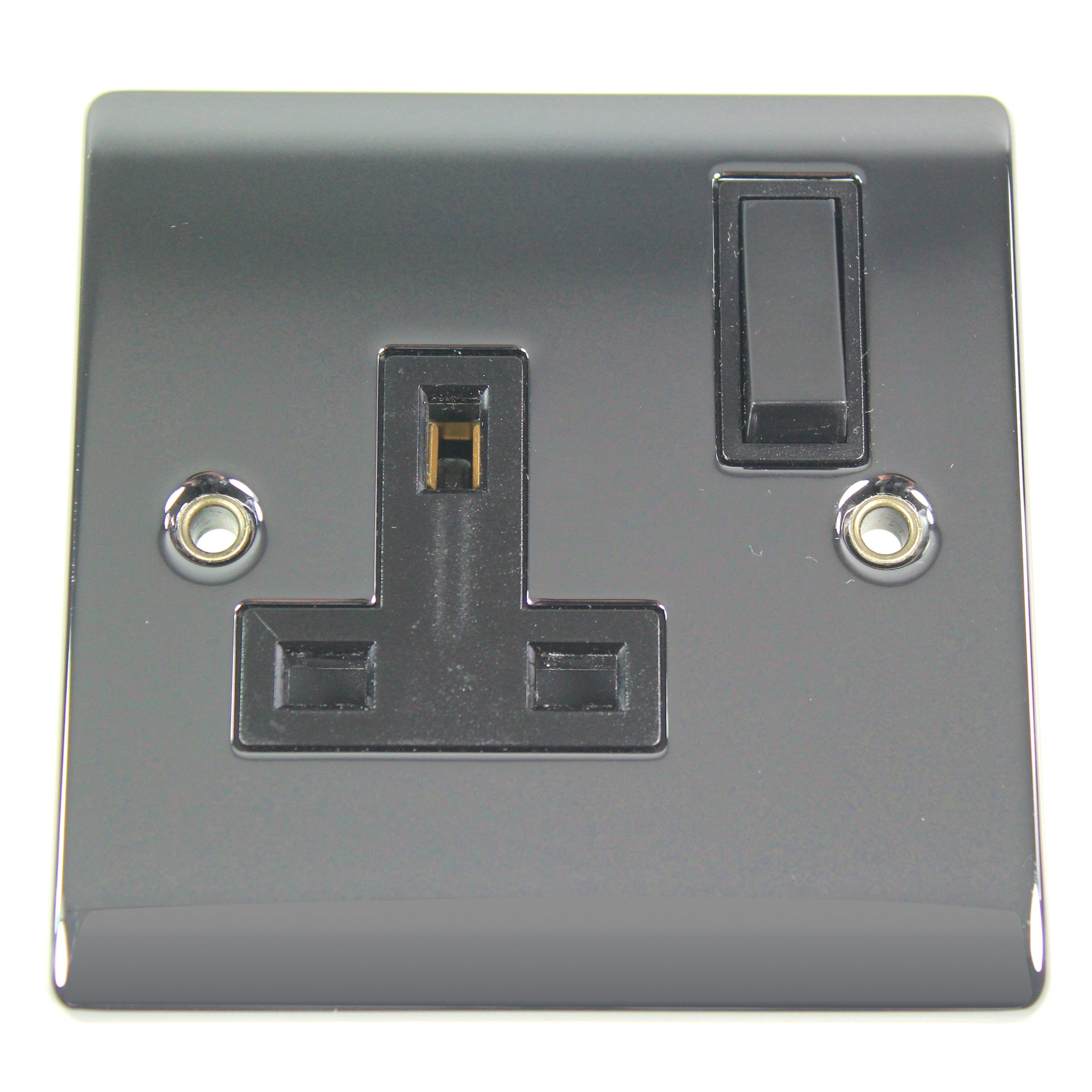 1 Gang Switch Black Nickel Socket