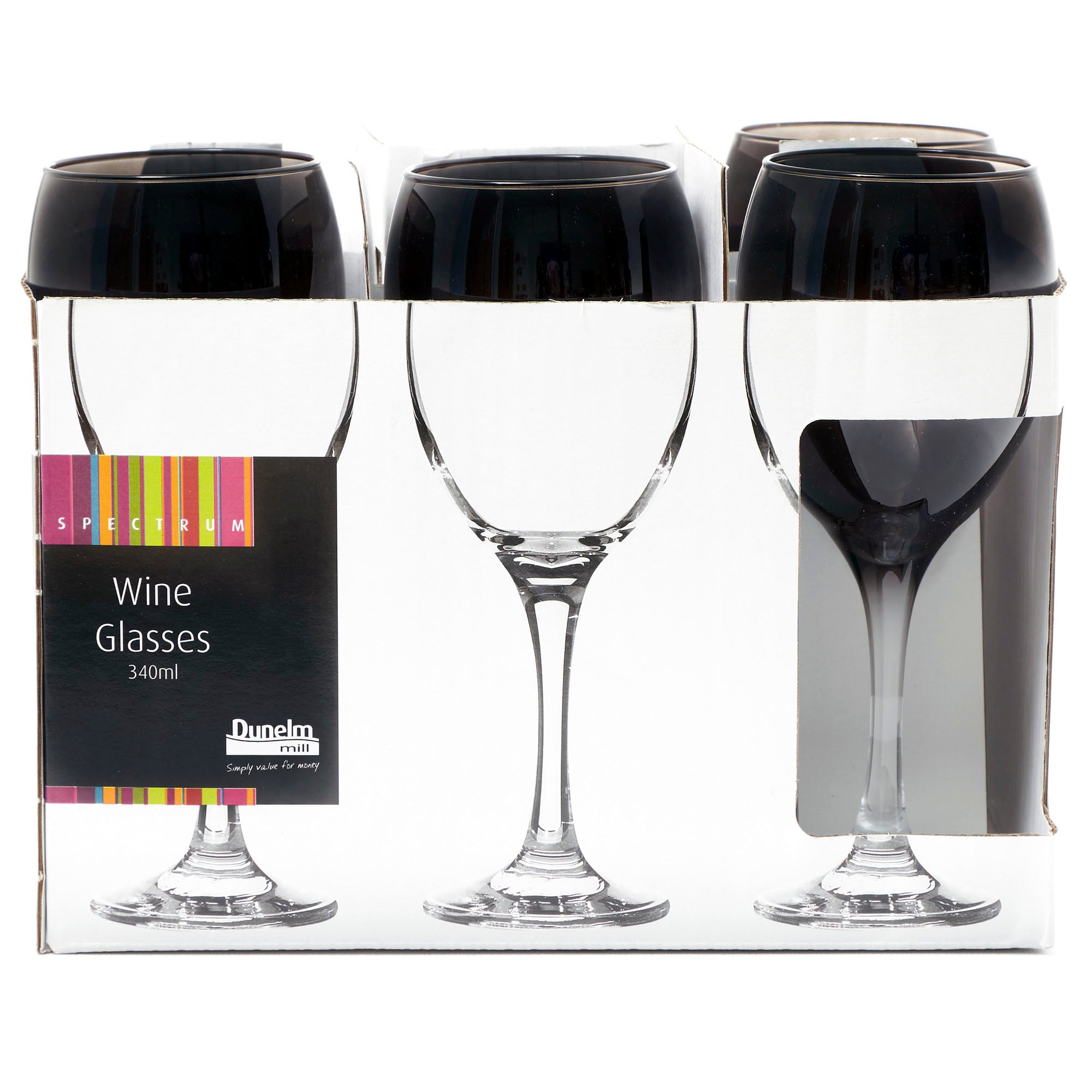 Black Spectrum Tall Wine Glass