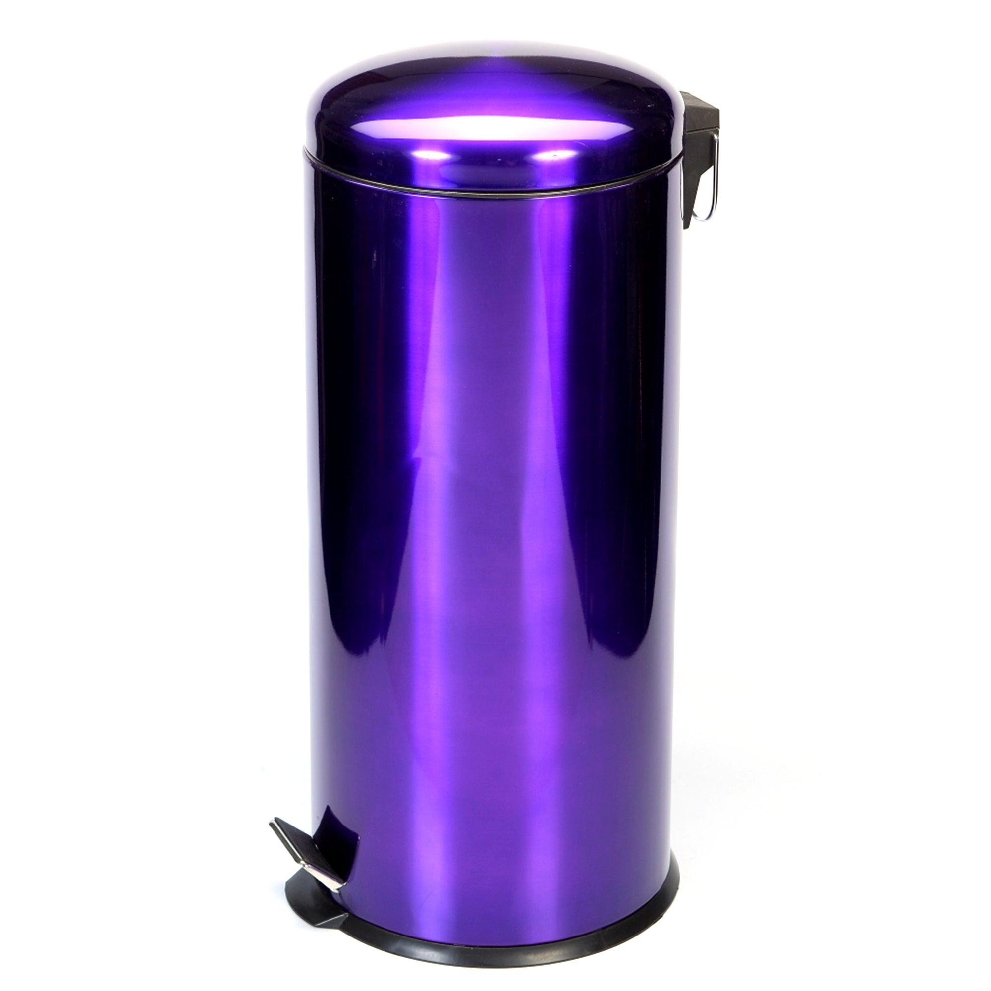Purple Spectrum Collection Metallic 30 Litre Pedal Bin