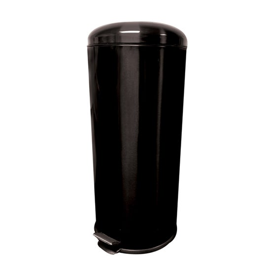 Black Spectrum Collection Metallic 30 Litre Pedal Bin
