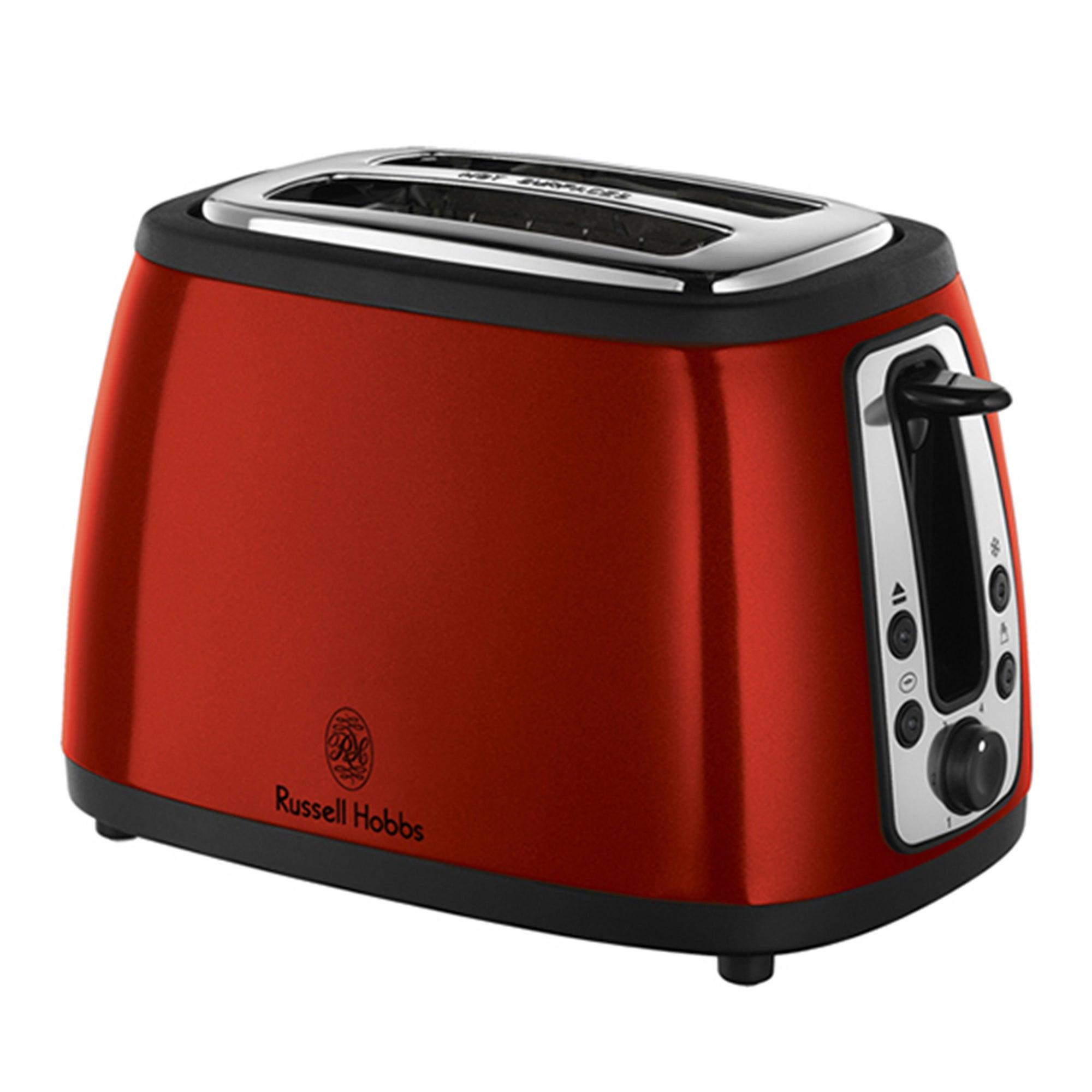 Russell Hobbs Heritage 18260 Metallic Red 2 Slice Toaster
