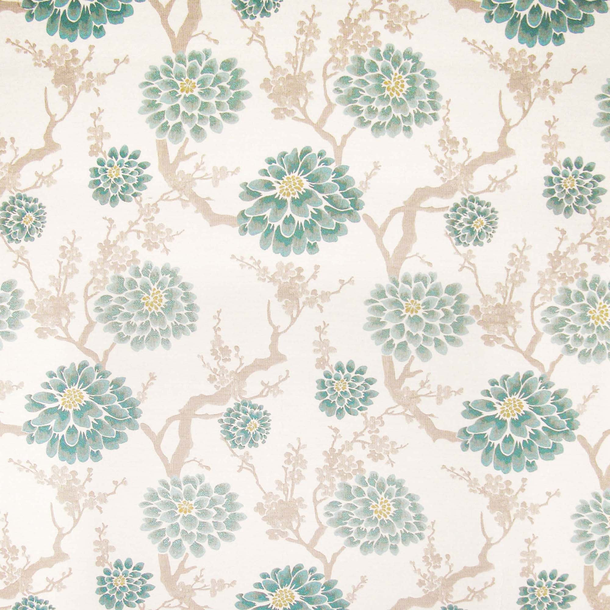 Ocean Alice Jacquard Fabric