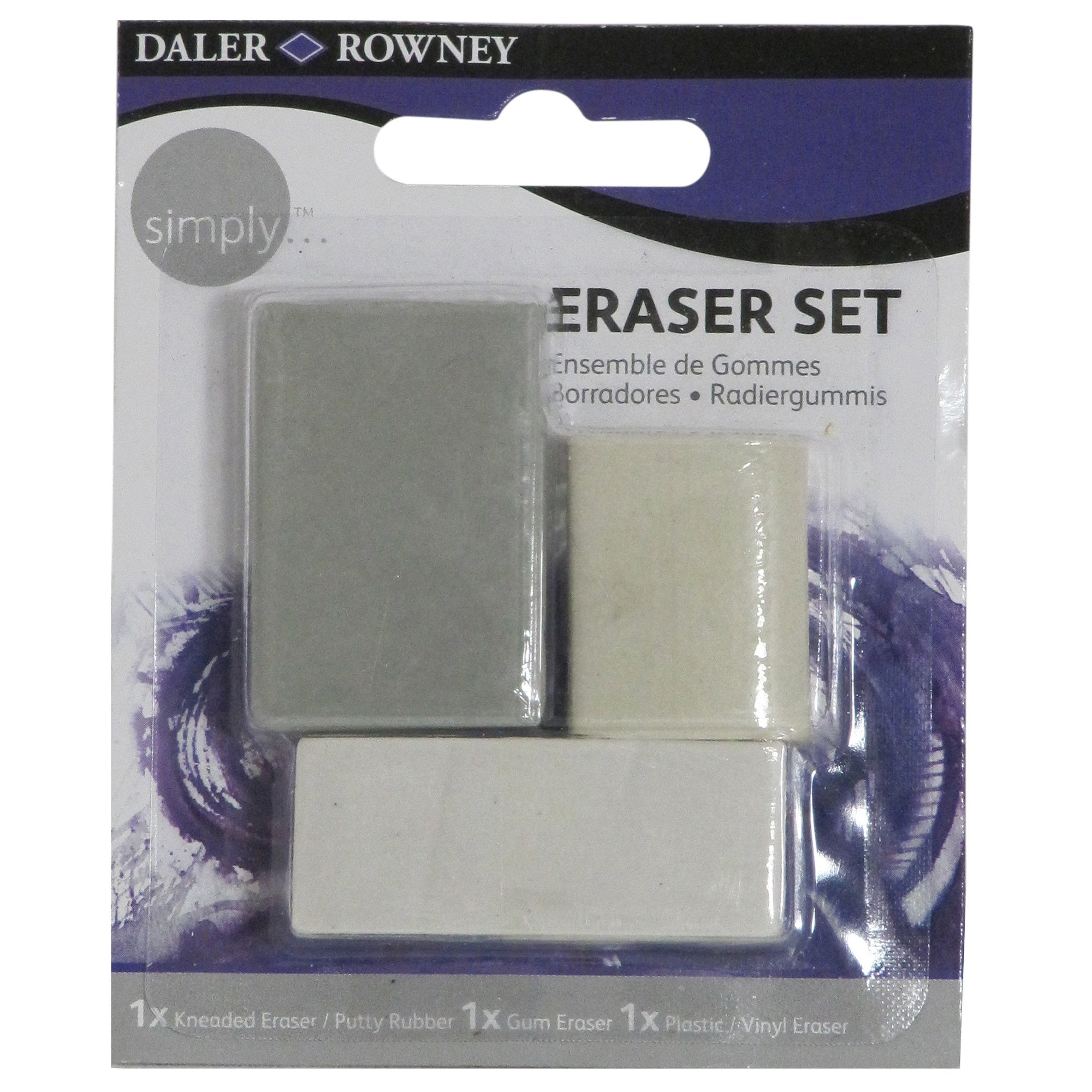 Daler Rowney Set of 3 Erasers