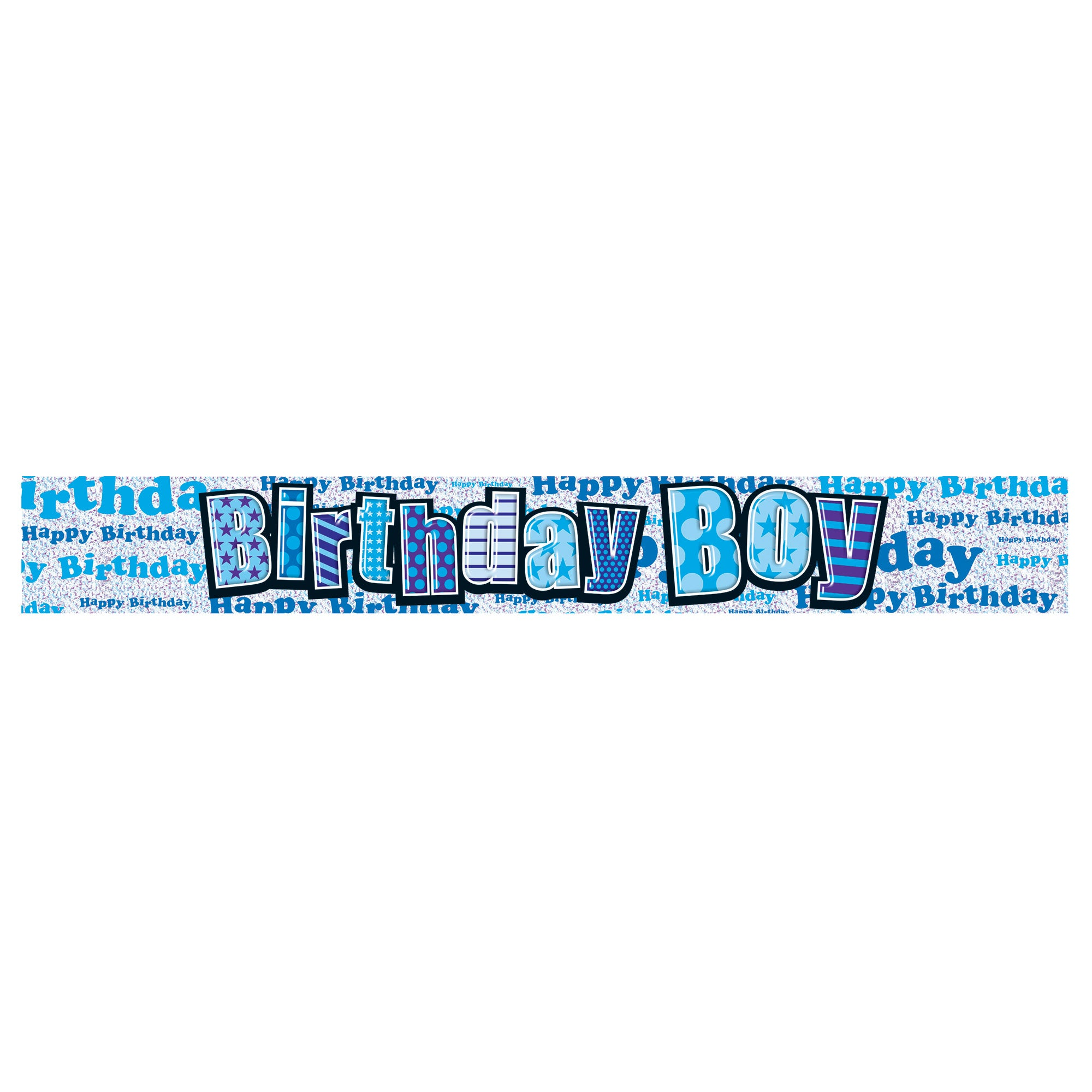 Boys Happy Birthday Banner
