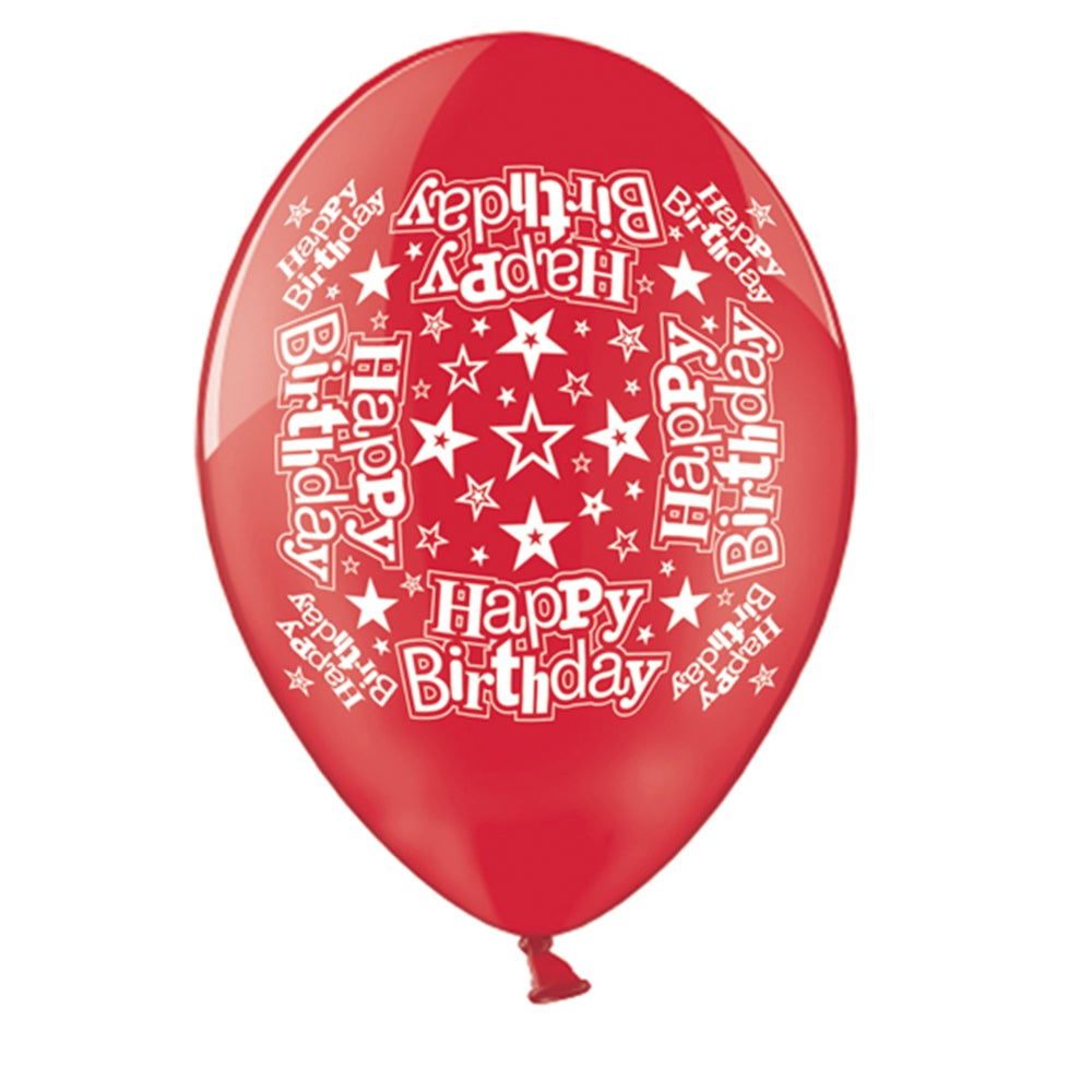 Printed Happy Birthday Balloons