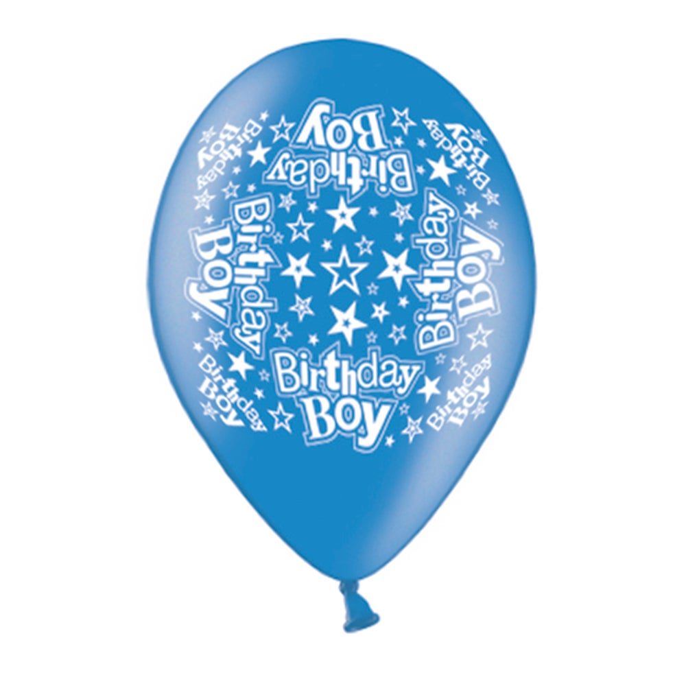 Printed Birthday Boy Balloons