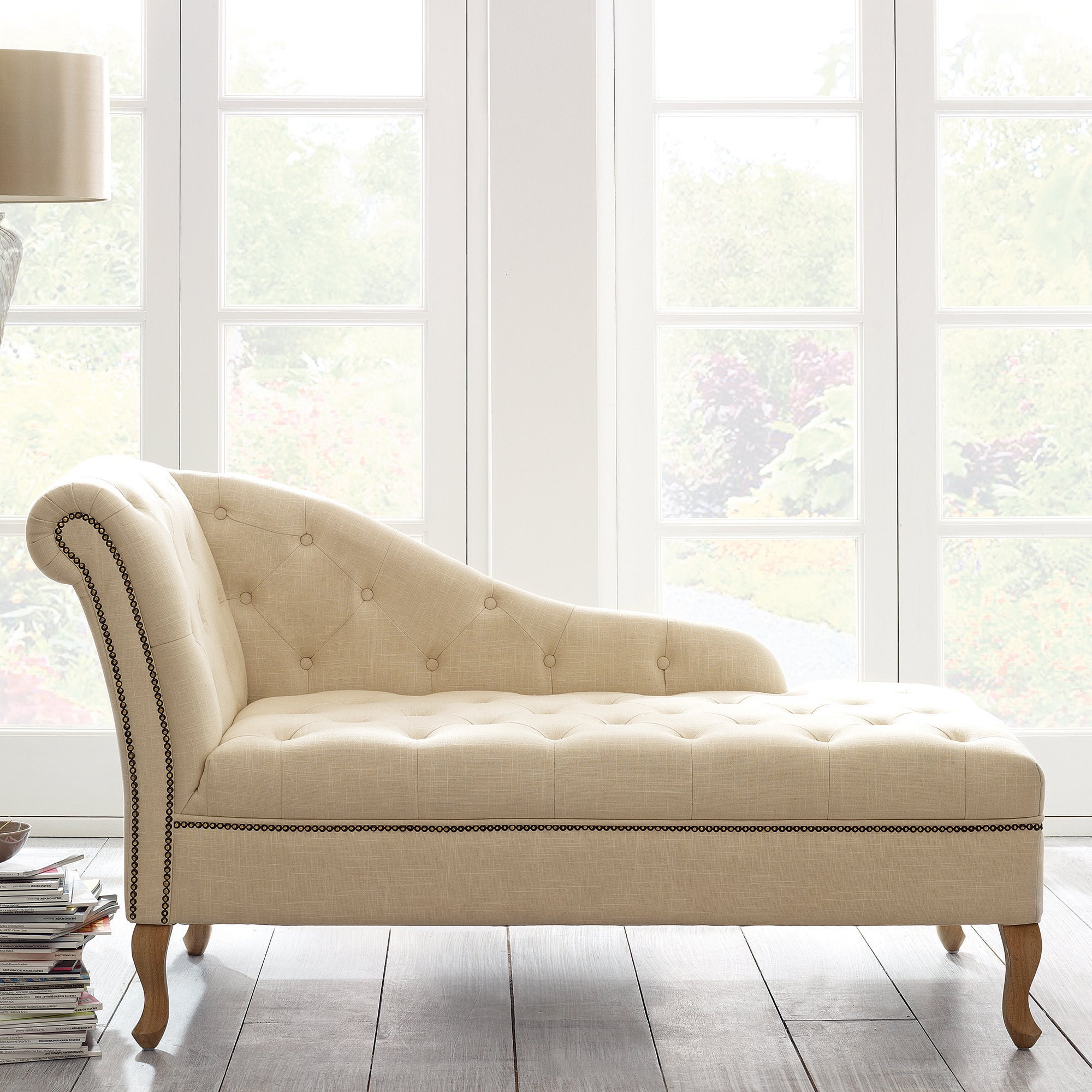 Cream Collette Chaise Longue