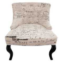 Natural Antoinette Script Chair