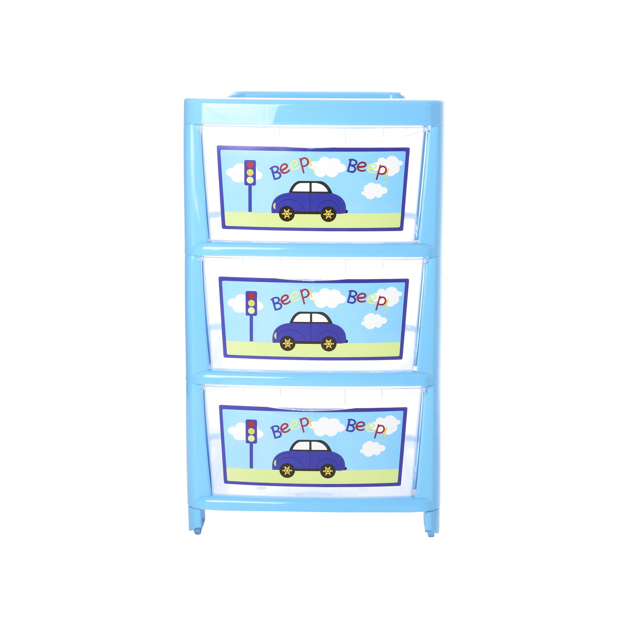 Kids Beep Beep Collection 3 Drawer Tower