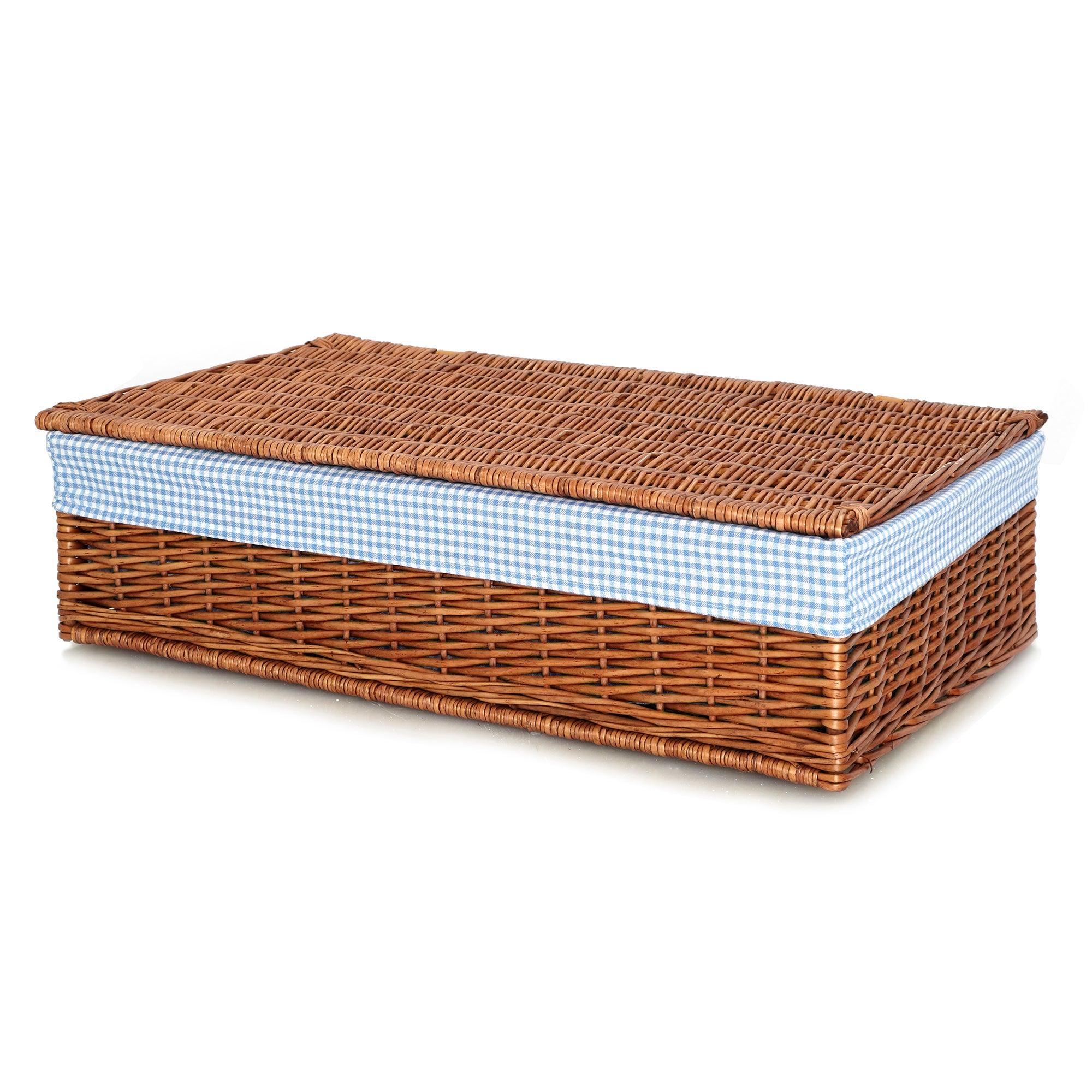 Dorothy Blue Gingham Under Bed Basket