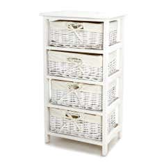 Dorothy Gingham 4 Drawer Tower