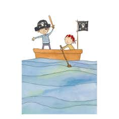 Artistic Britain Kids Pirate Boy Jolly Roger Canvas