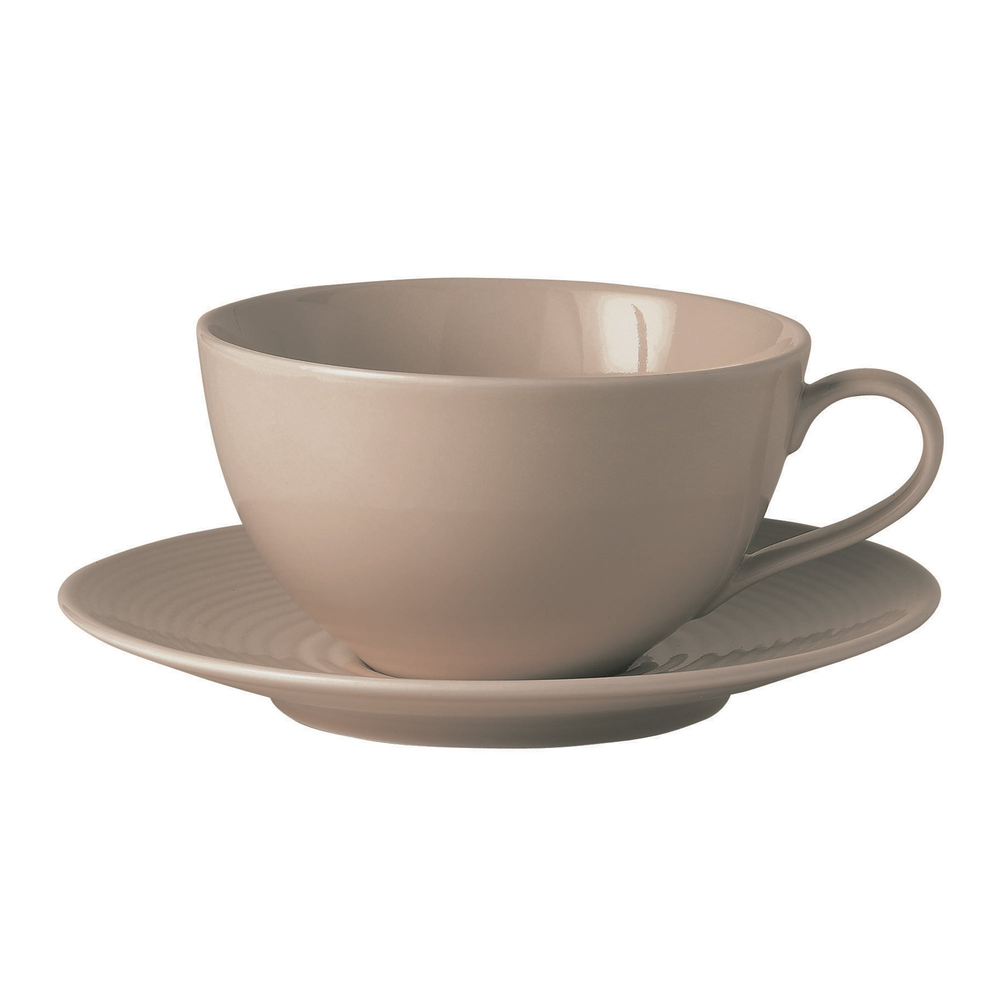 Taupe Gordon Ramsay Maze Collection Cup and Saucer Set