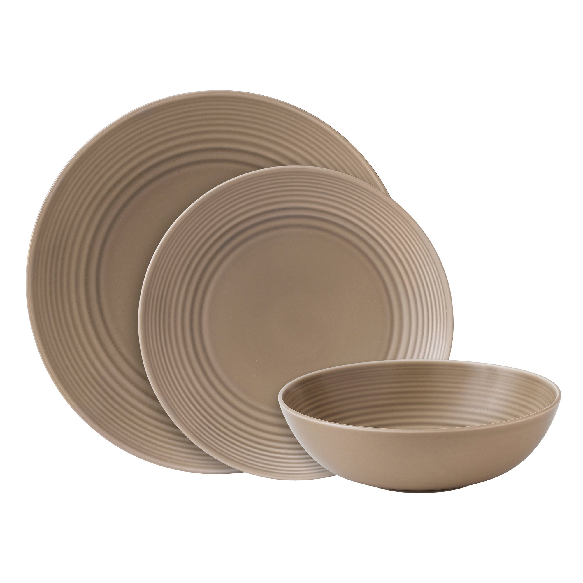 Taupe Gordon Ramsay Maze Collection 12 Piece Dinner Set
