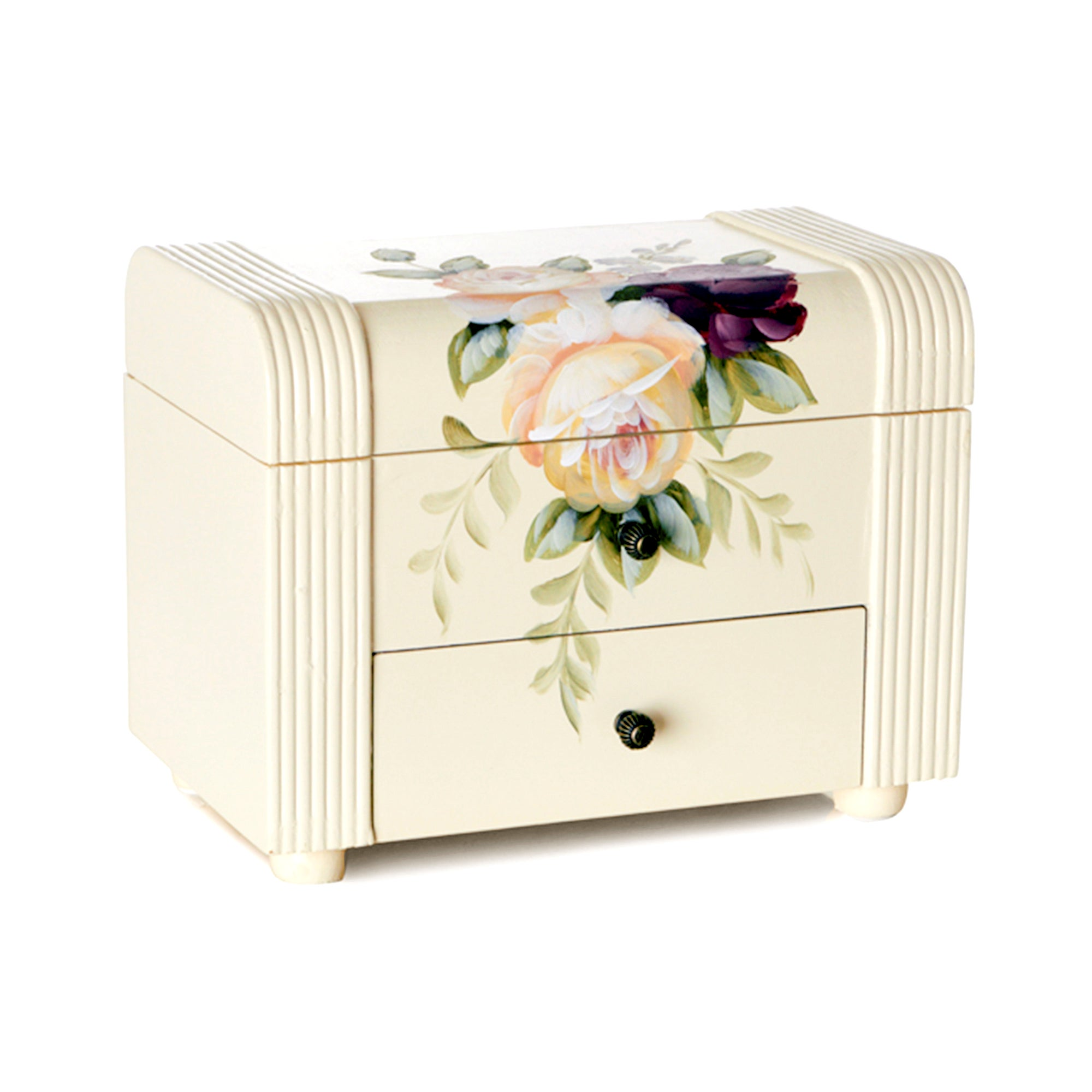 Rose Hand Painted Jewellery Box