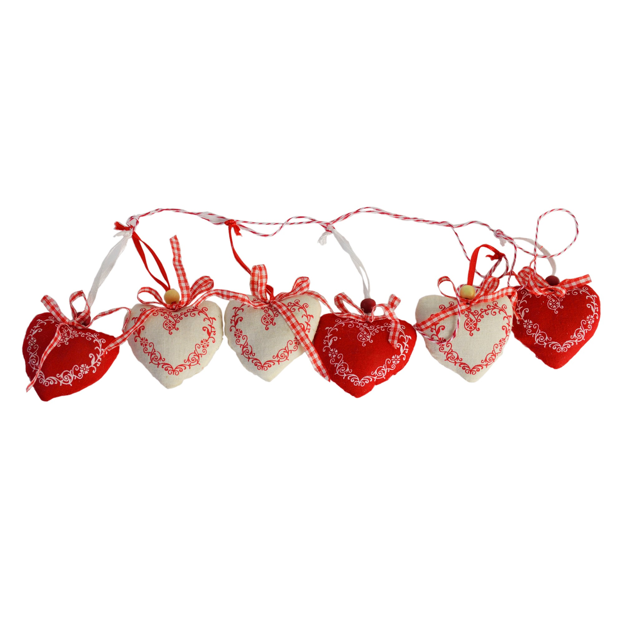 Red Ruby Collection String Heart Bunting