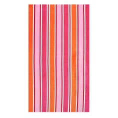 Pink Stripe Beach Towel
