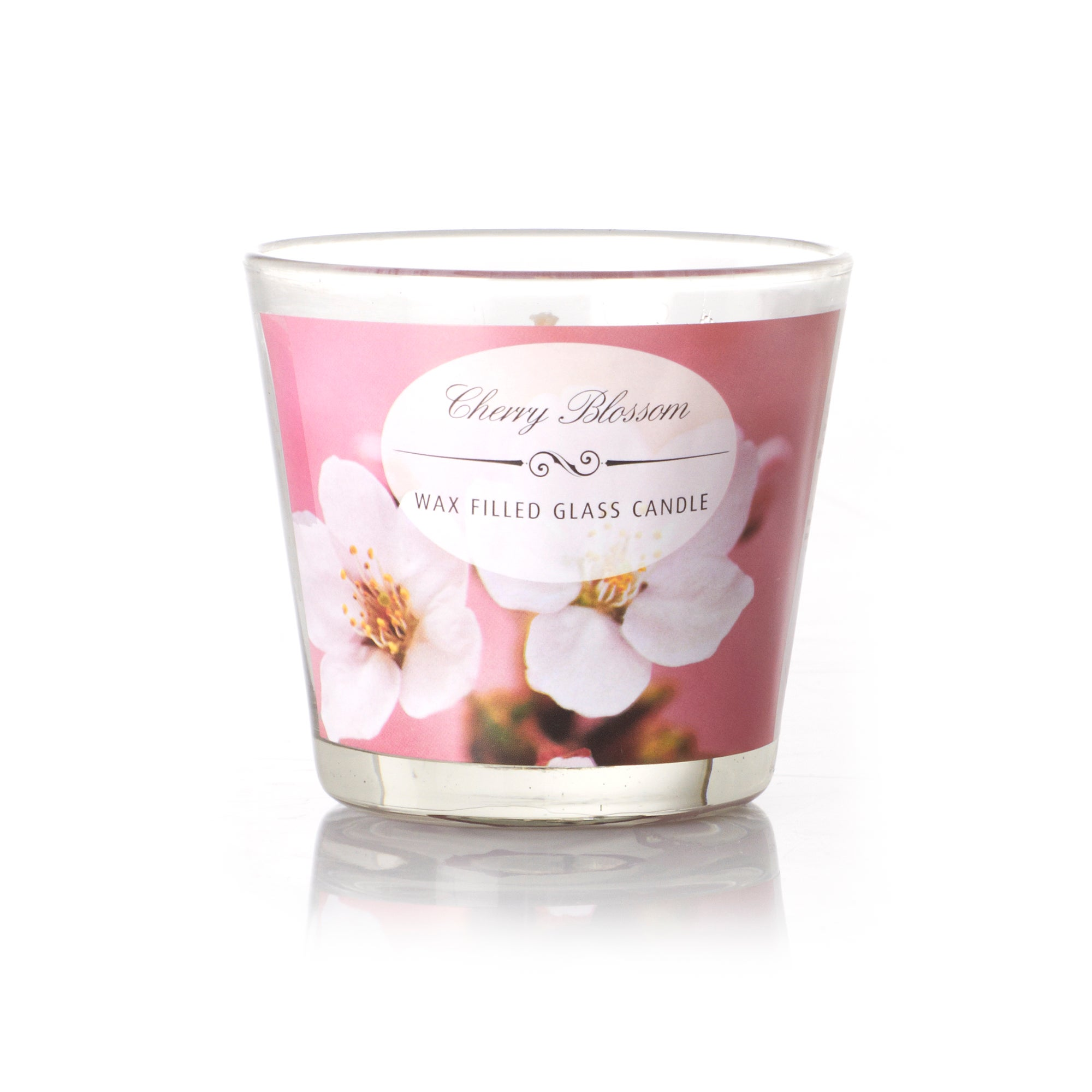 Cherry Blossom Wax Filled Glass Candle