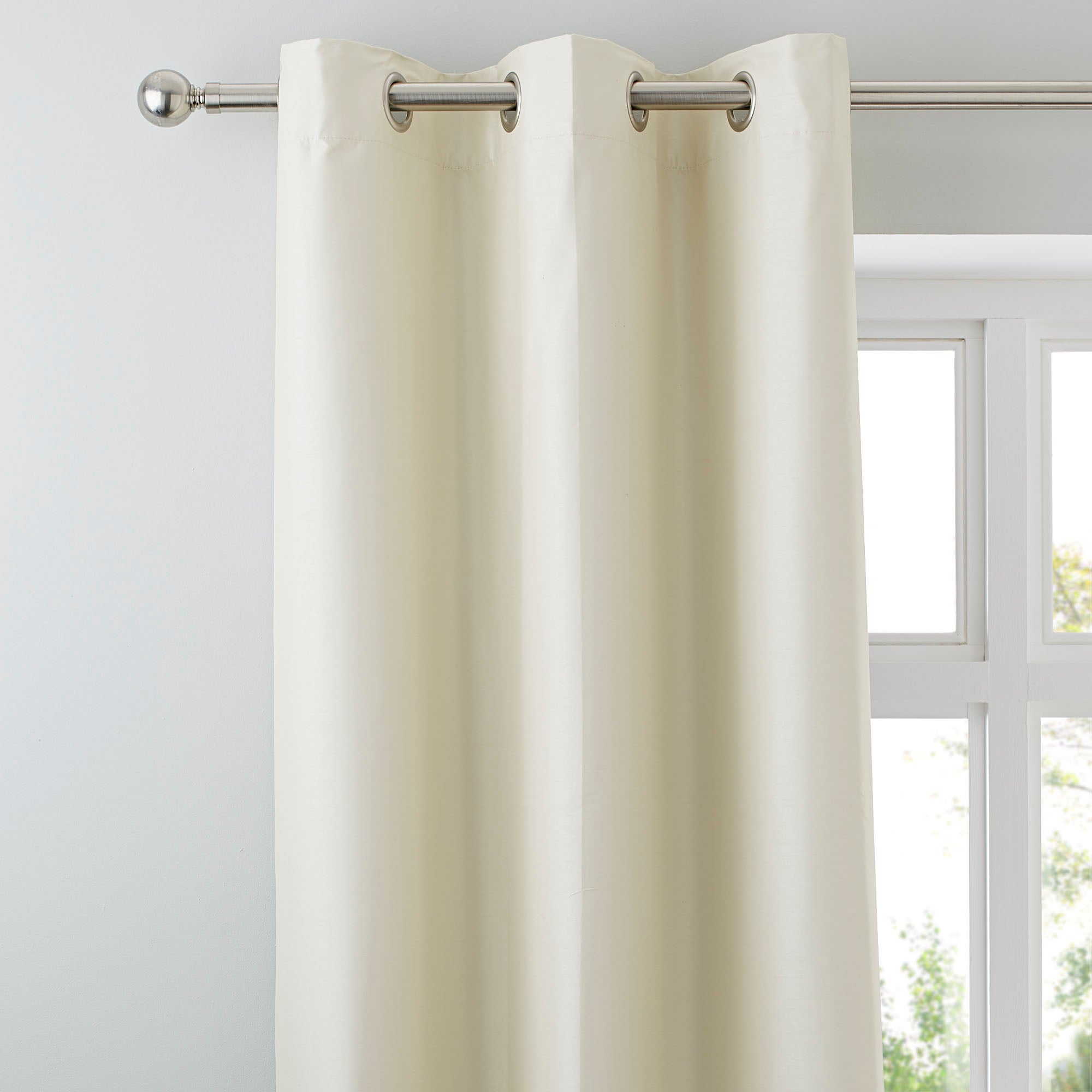 Natural Nova Blackout Lined Eyelet Curtains