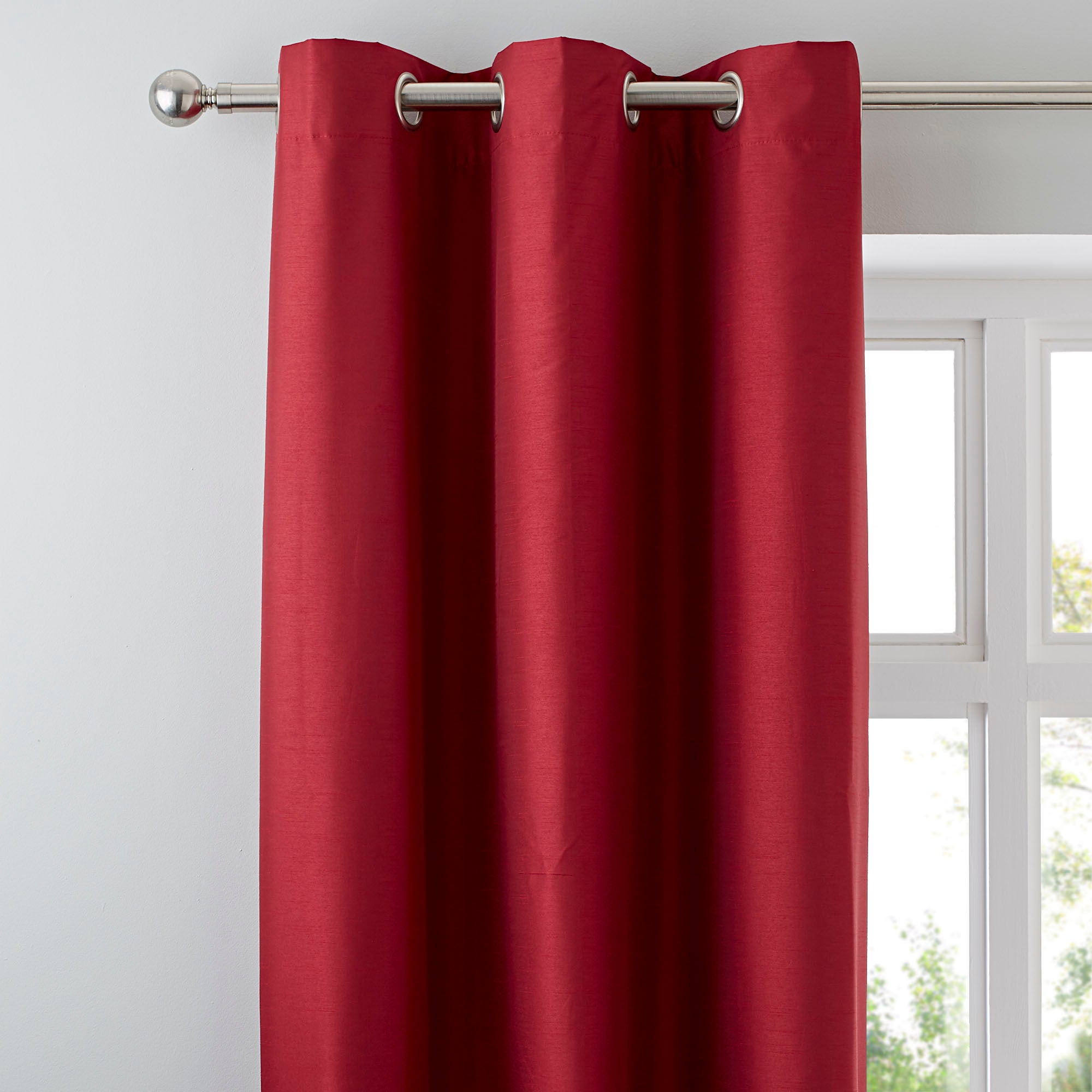 Red Nova Blackout Lined Eyelet Curtains