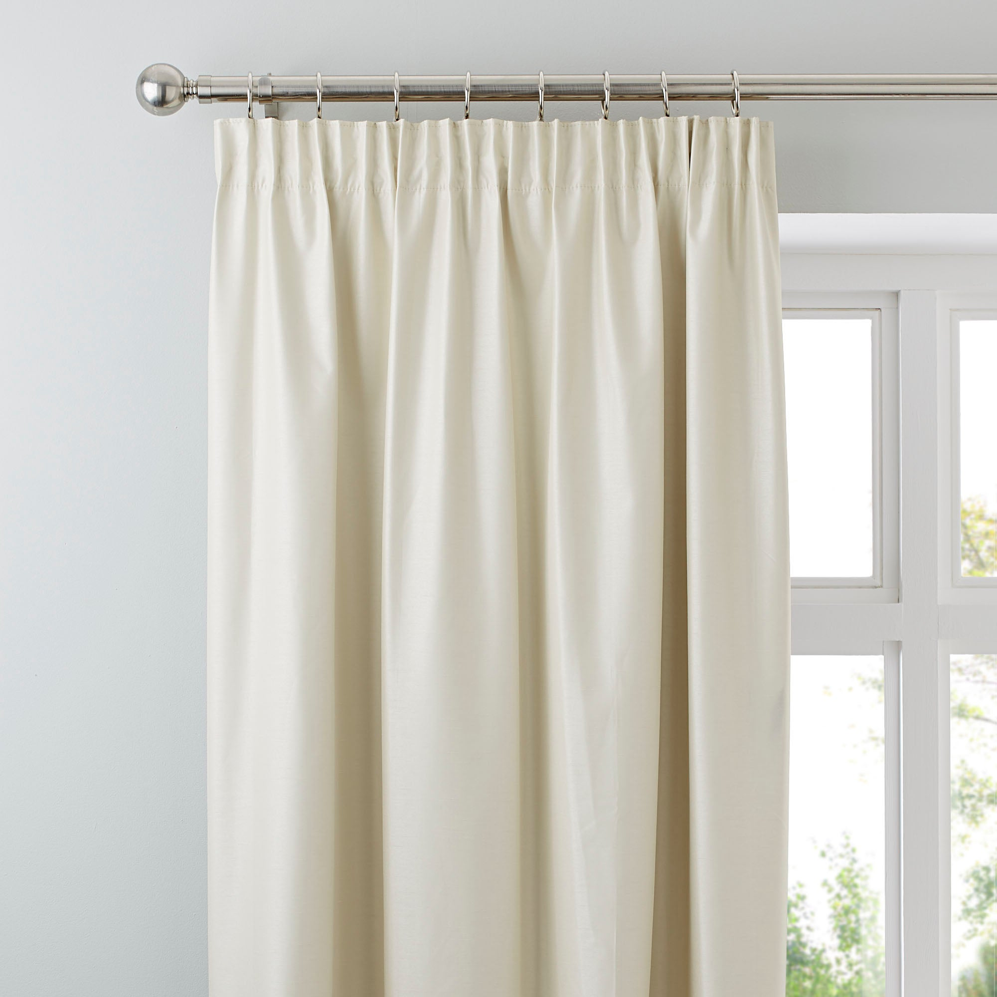 Natural Nova Blackout Pencil Pleat Curtains