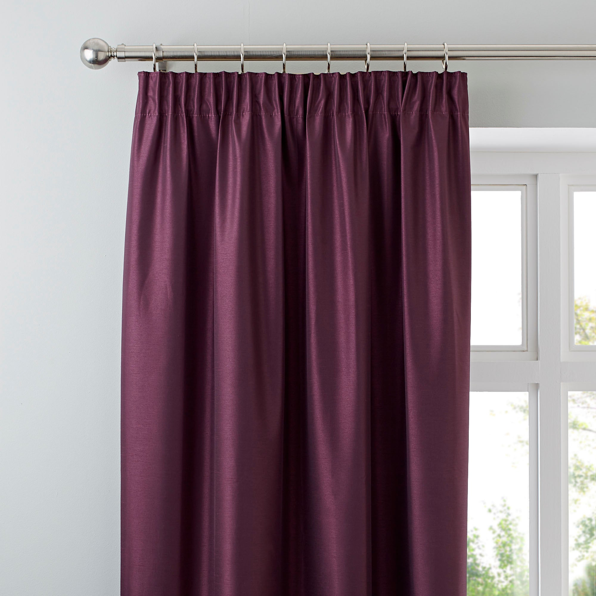 Aubergine Nova Blackout Pencil Pleat Curtains