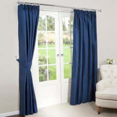 Navy Nova Blackout Pencil Pleat Curtains