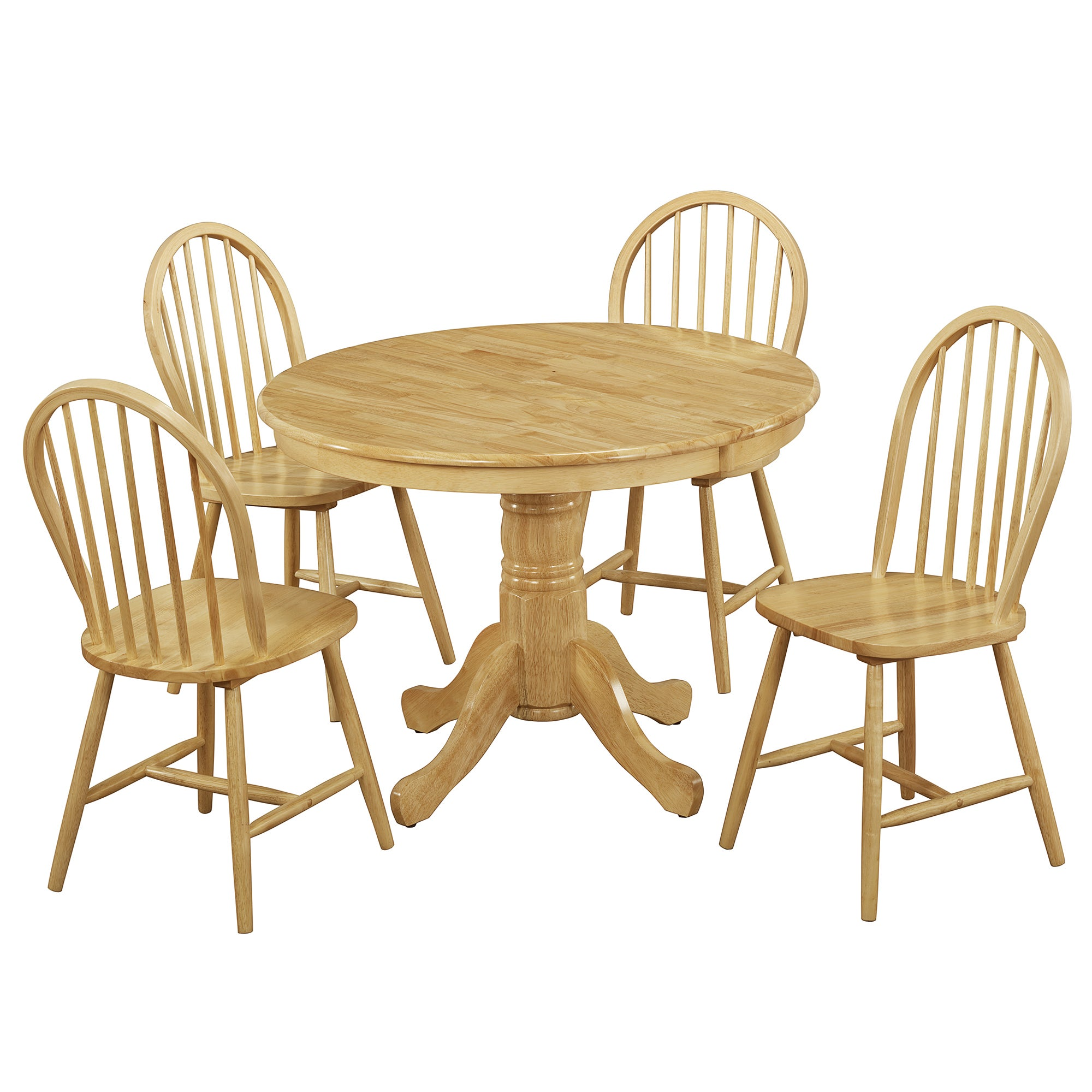 Cotswolds Natural Round Table and Chairs