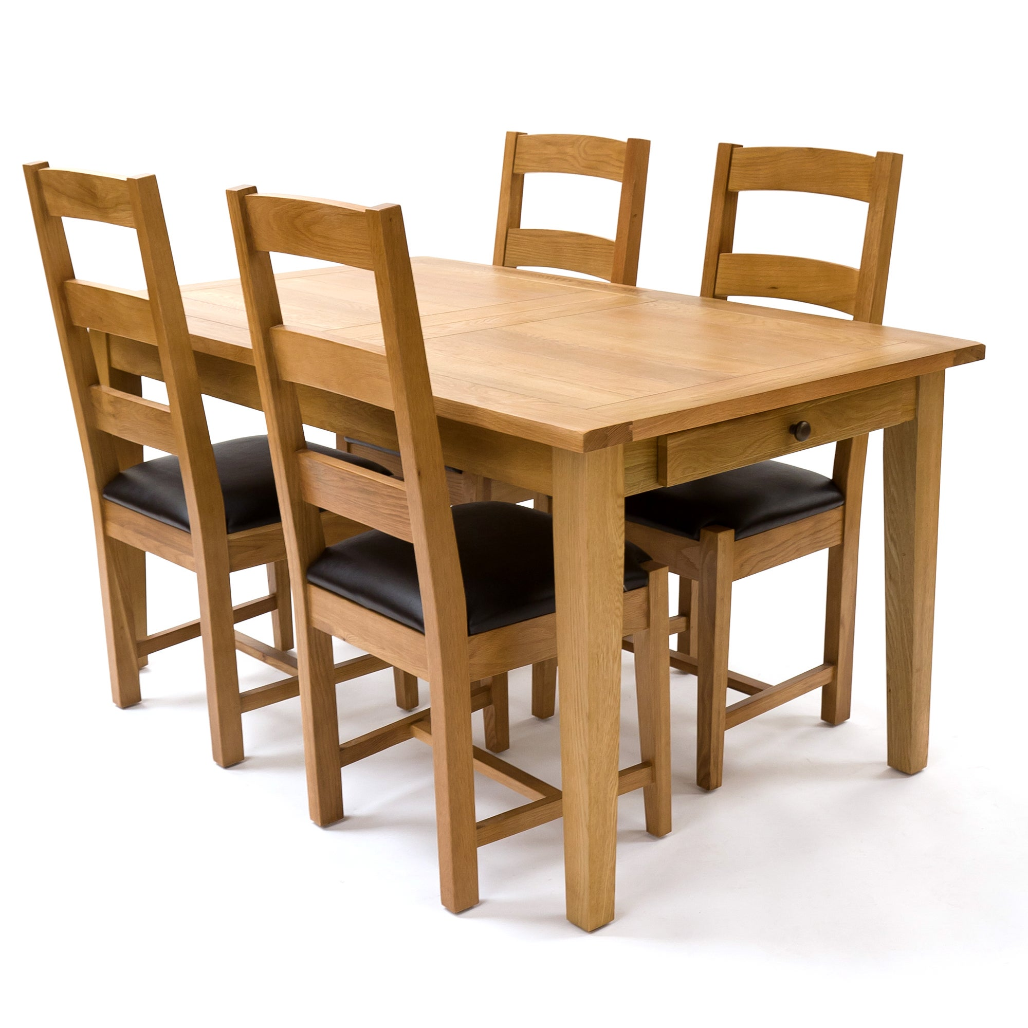 Stamford Natural Oak Large Extendable Dining Table