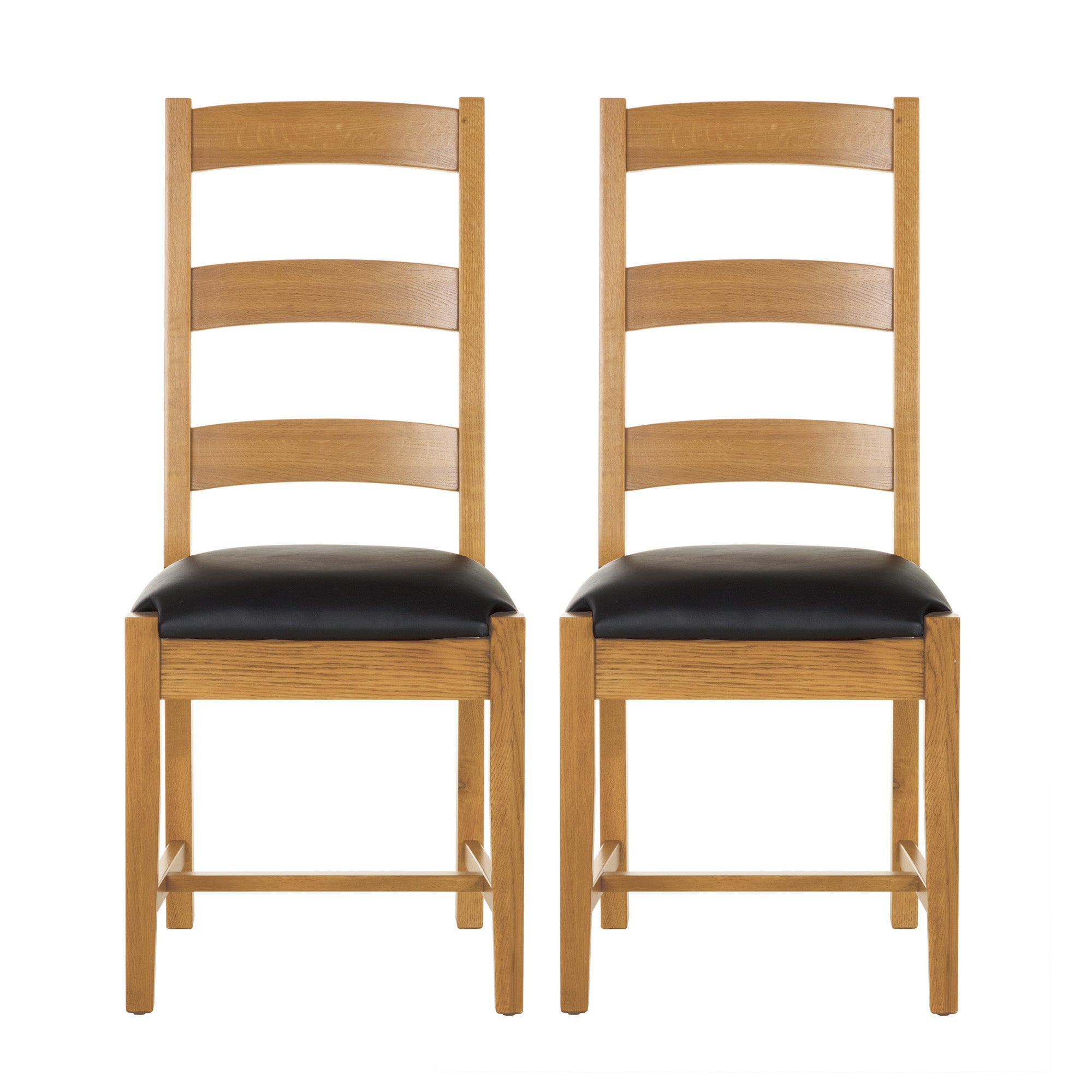 Stamford Natural Oak Pair of Chairs