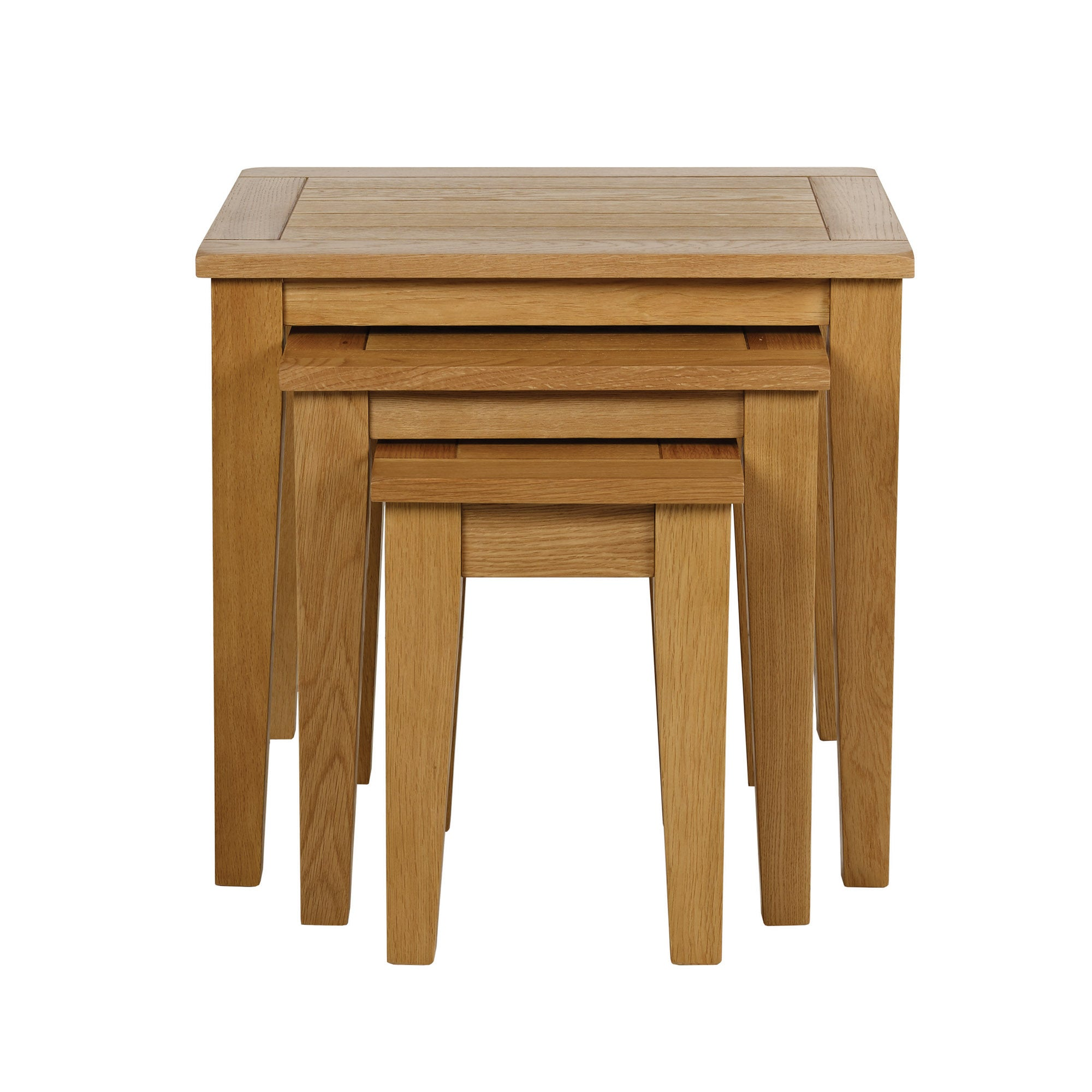 Stamford Natural Oak Nest of Tables