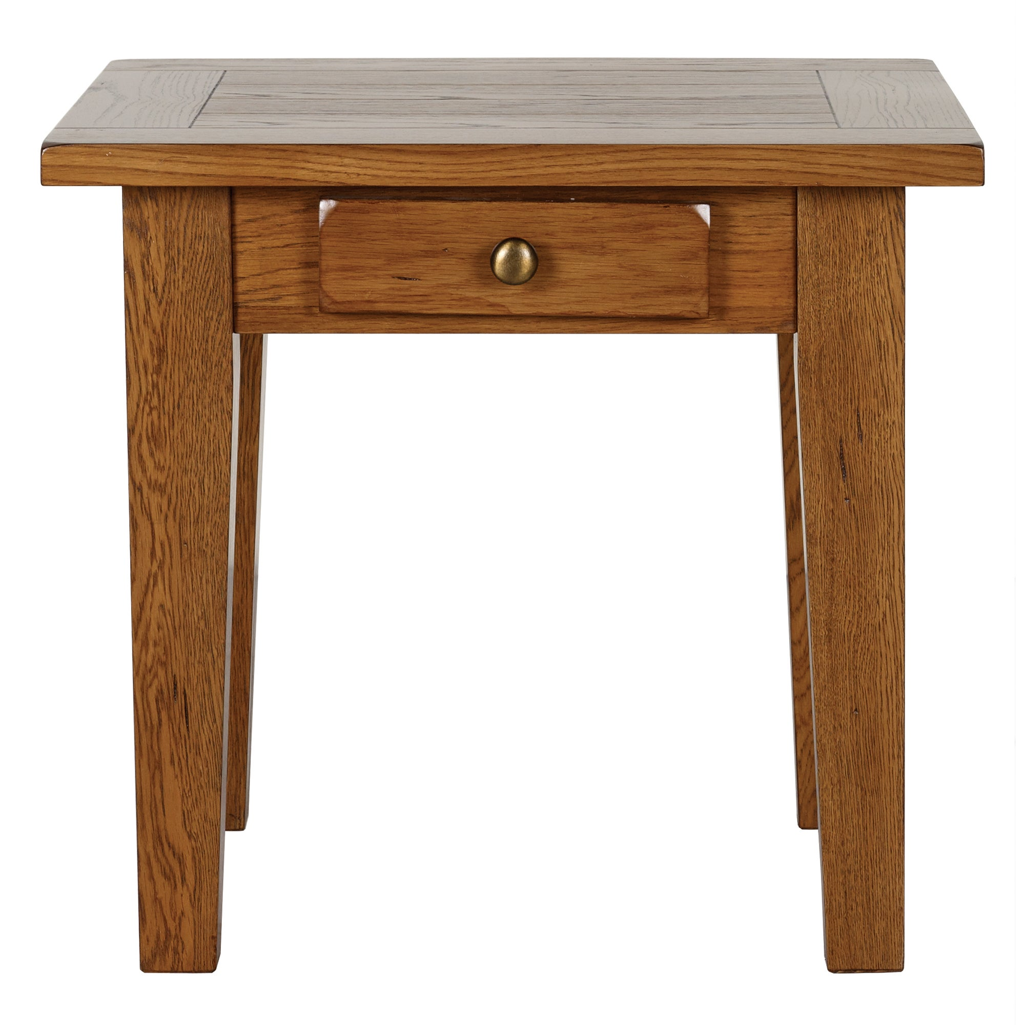 Stamford Rustic Oak Side Table with Drawer