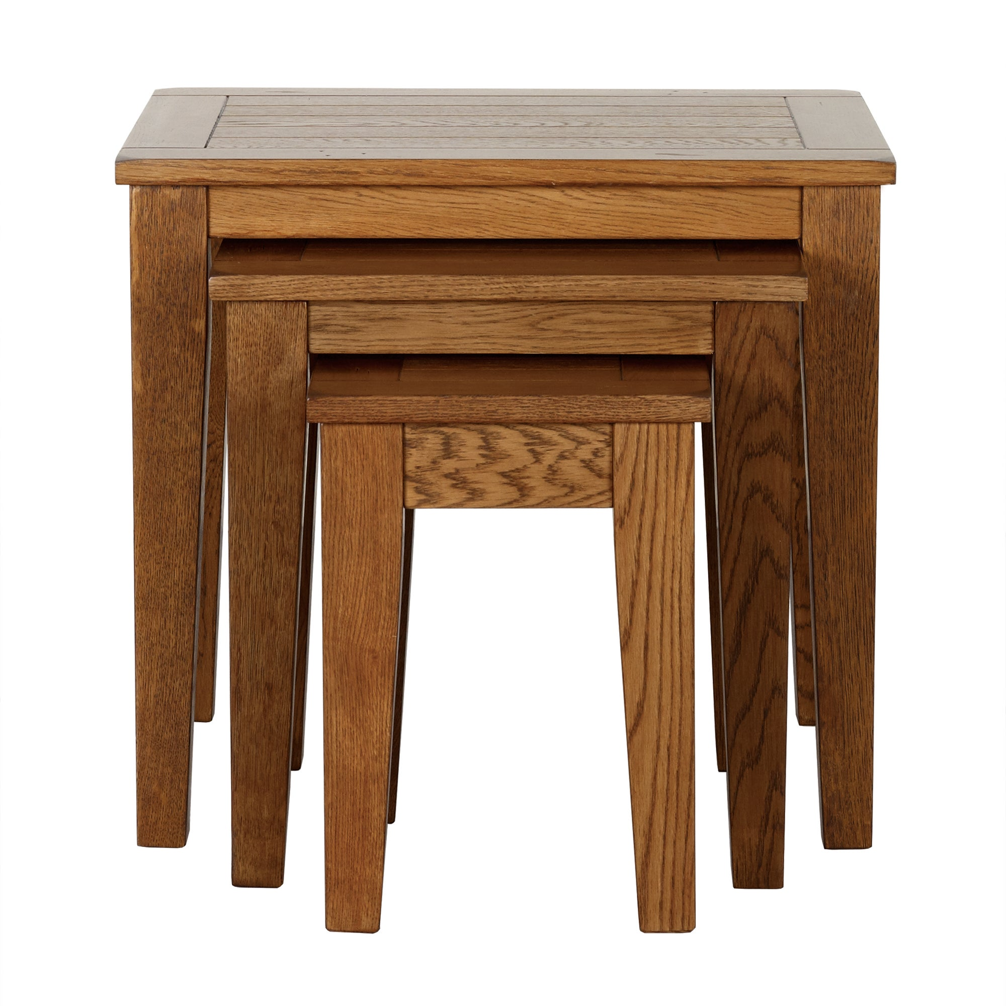 Stamford Rustic Oak Nest of Tables