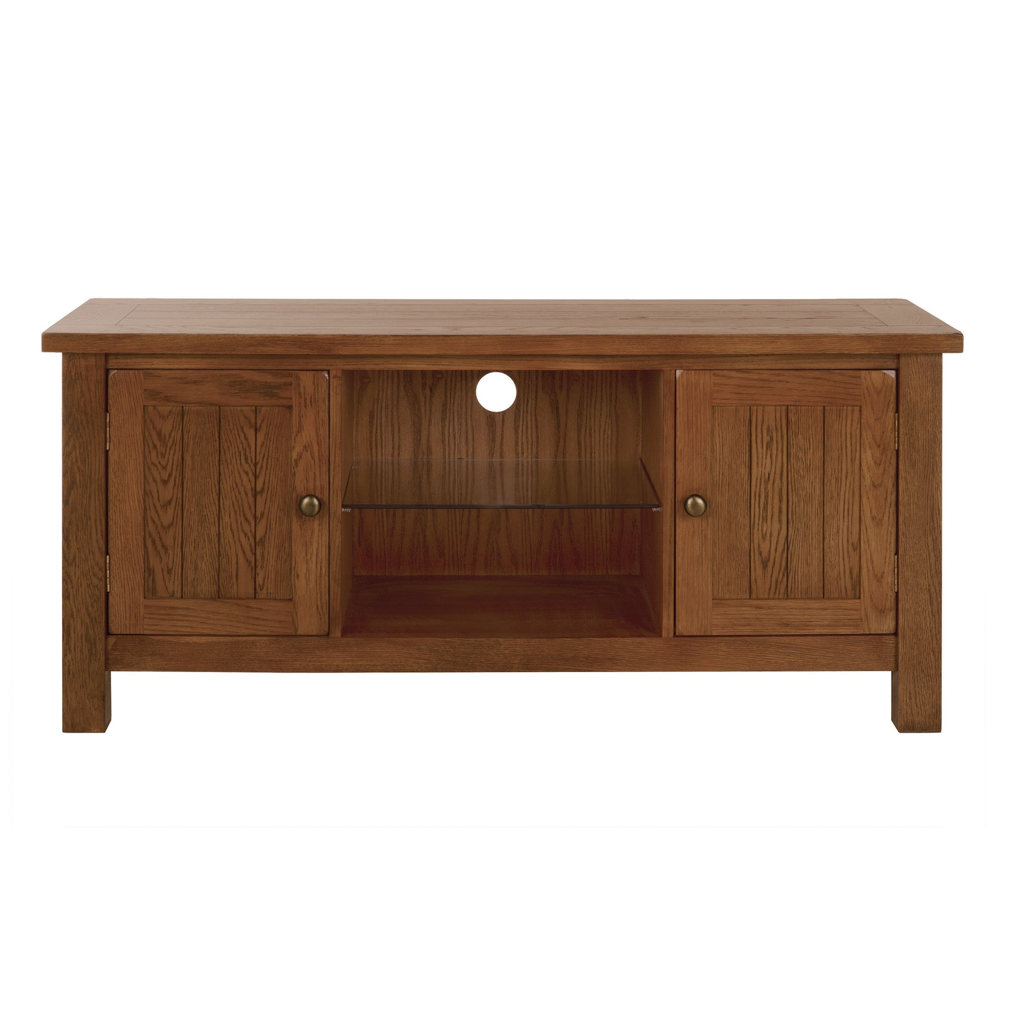 Stamford Rustic Oak Wide TV Cabinet