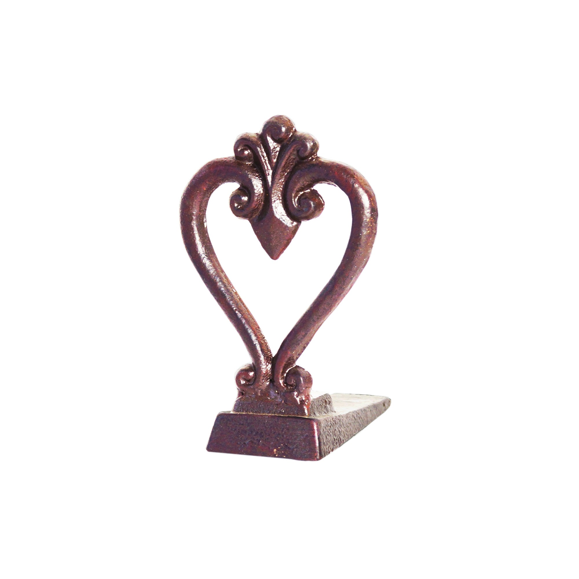 Burnt Sienna Collection Heart with Fleur De Lis Door Stop