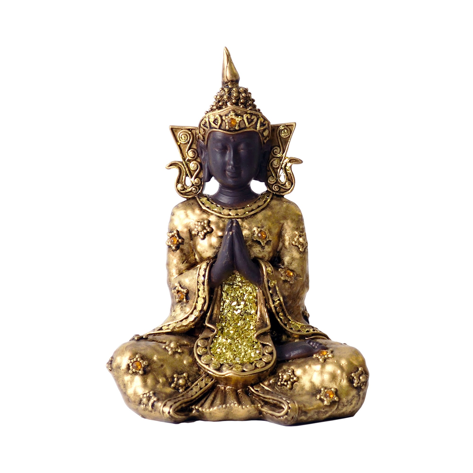 Burnt Sienna Collection Sitting Praying Buddha