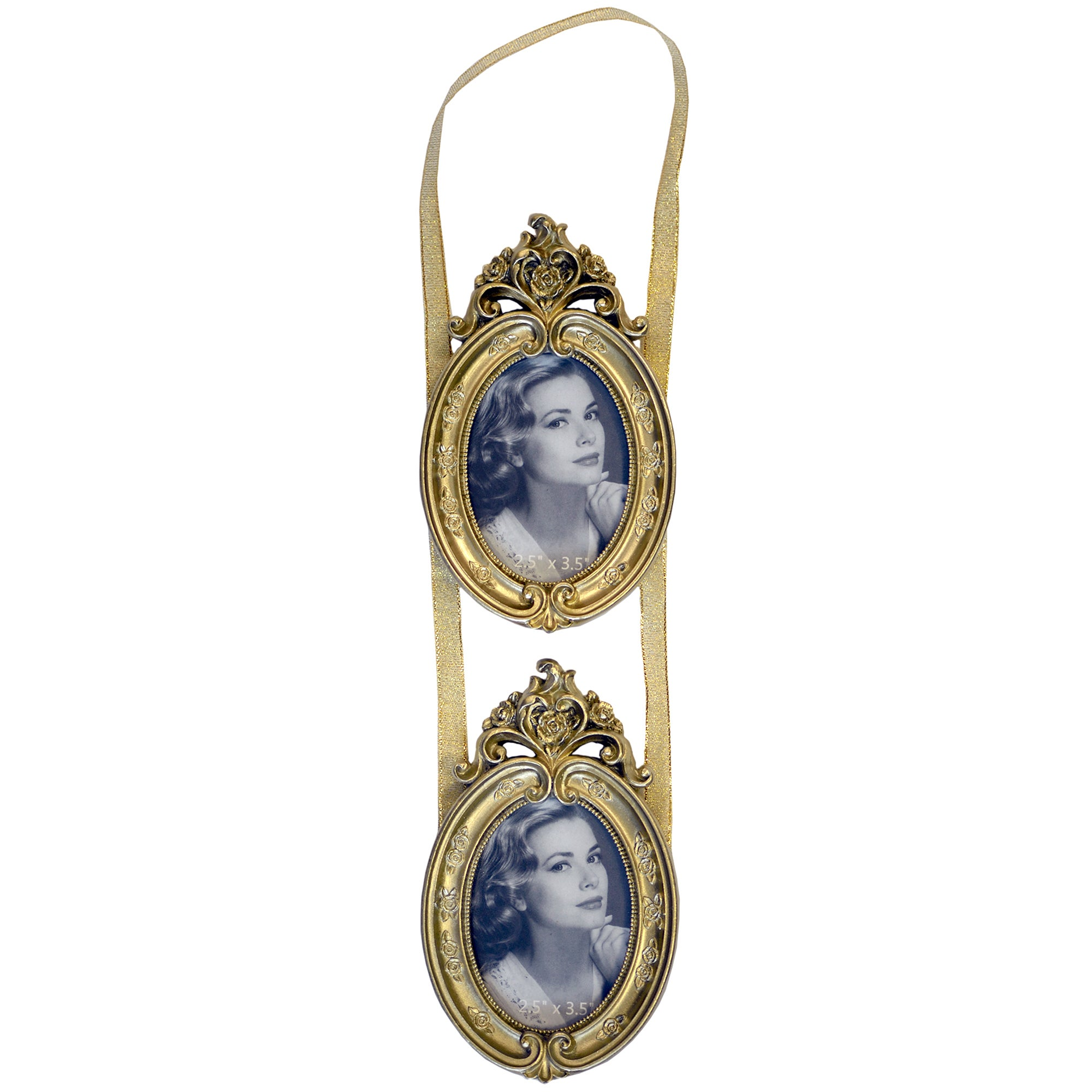 Gold Classique Collection Two Hanging Oval Frames