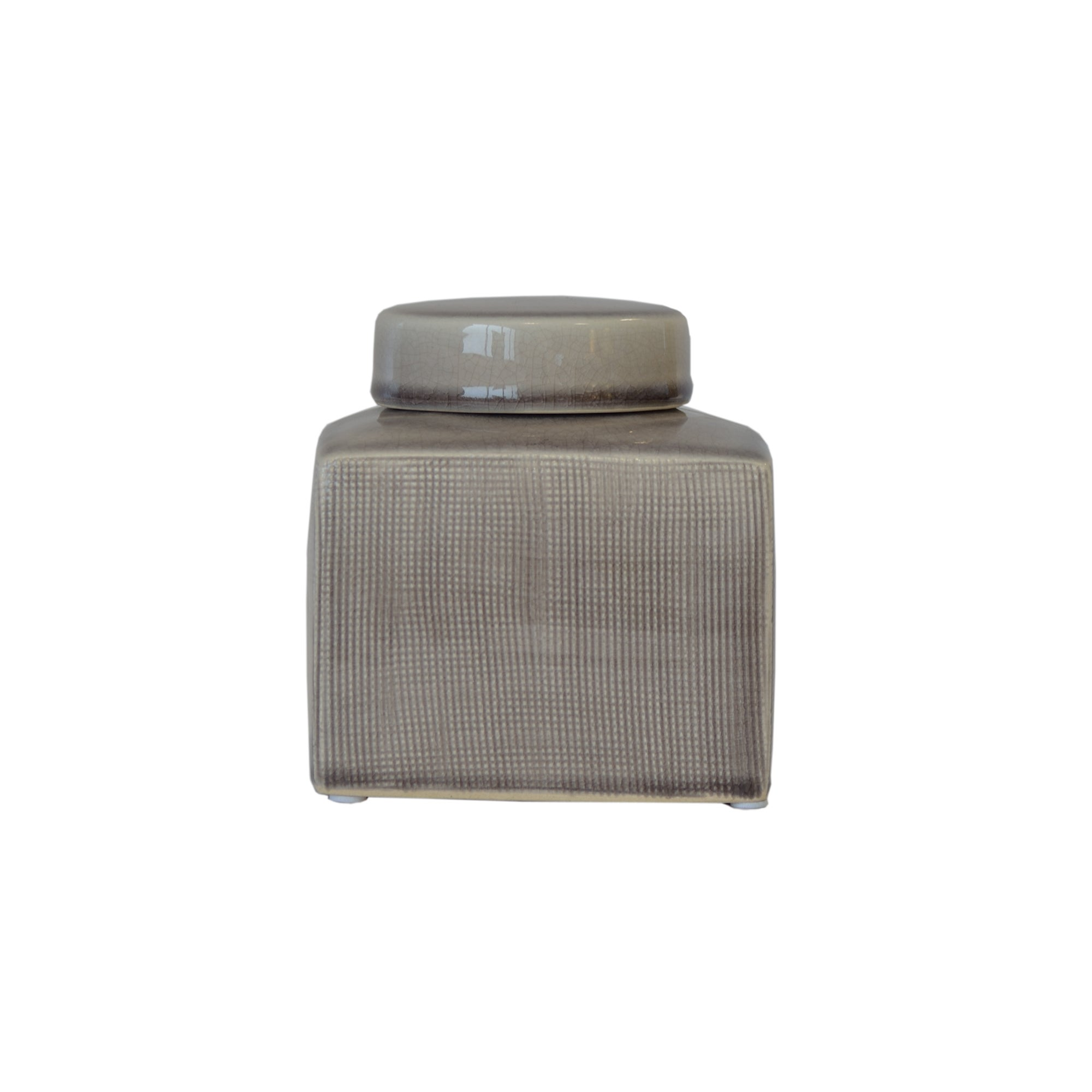 Taupe Colonial Collection Small Ceramic Ginger Jar
