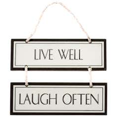 Colonial Collection Live Well Laugh Hanging Sign