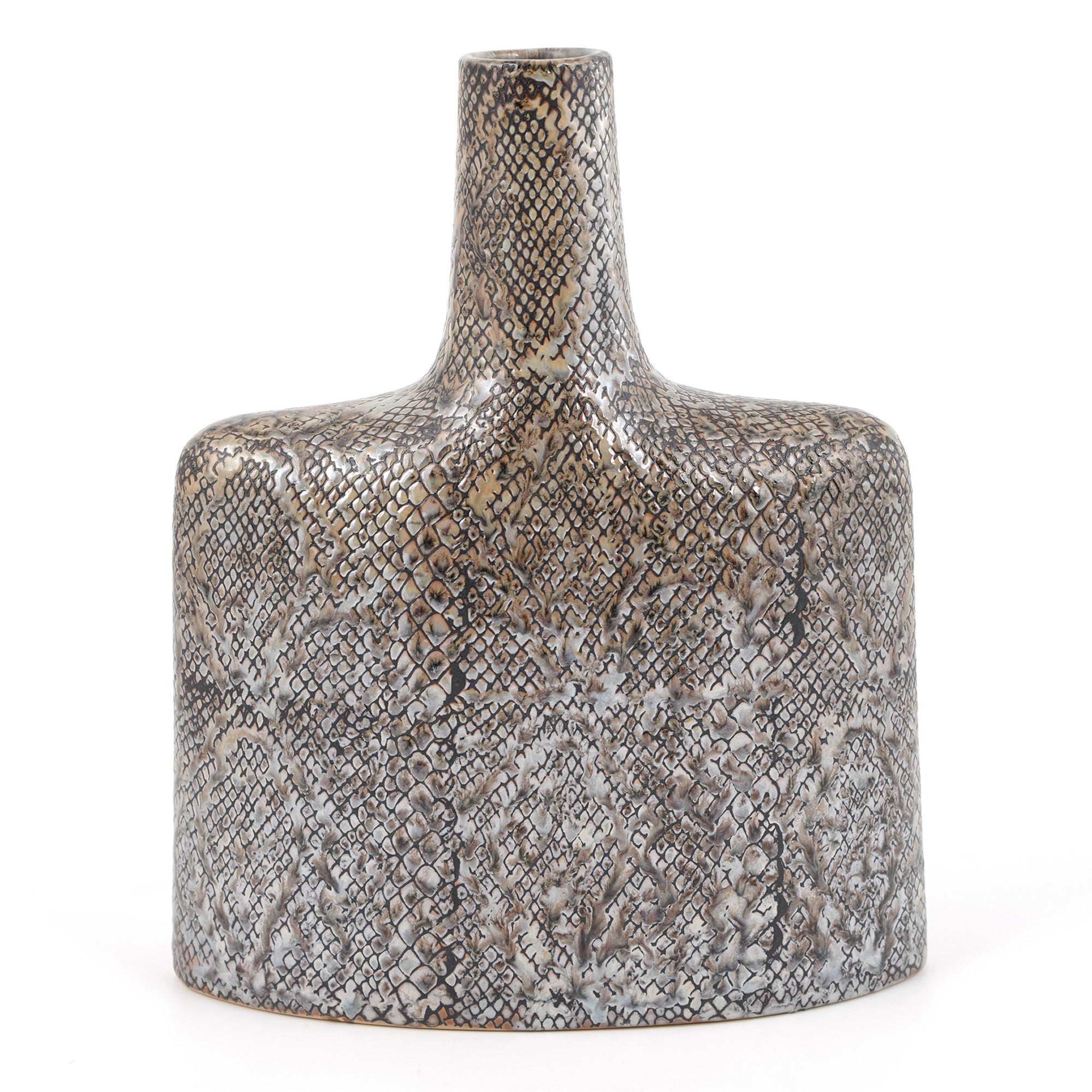 Global Fusion Collection Python Pattern Vase