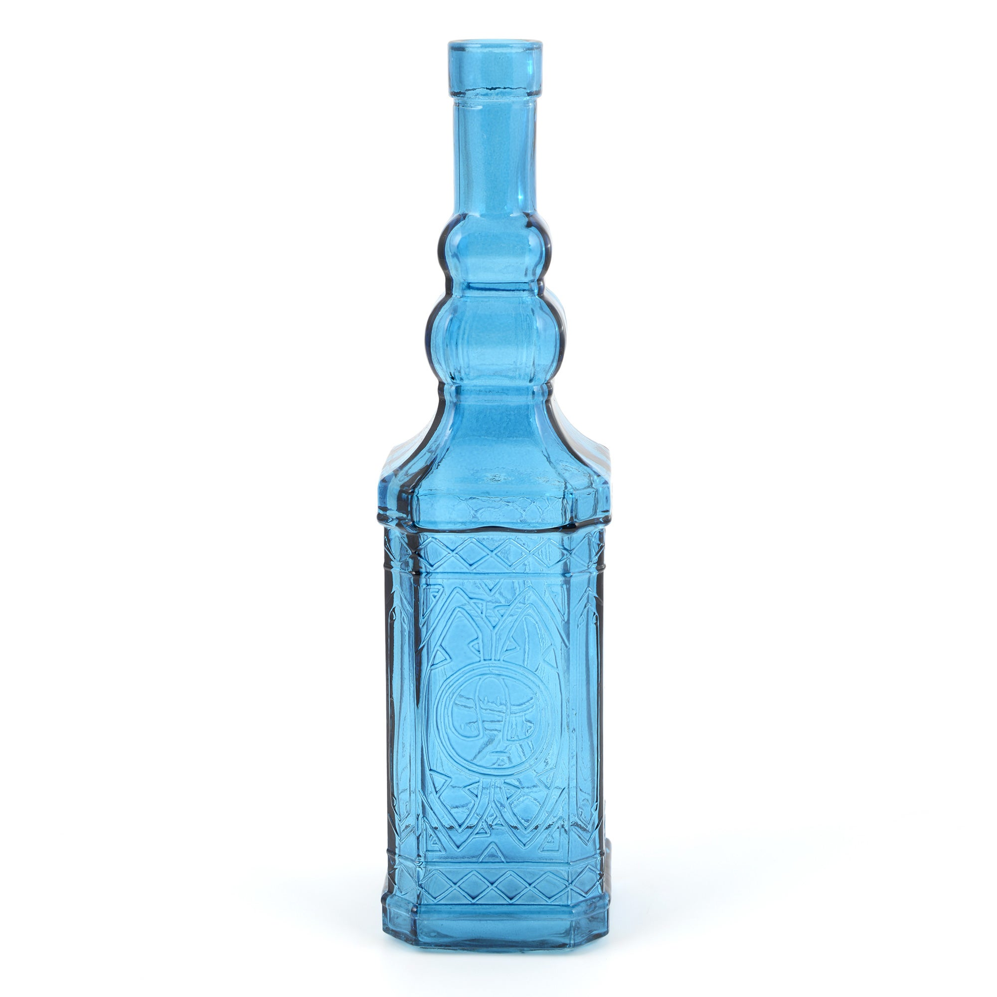 Global Fusion Collection Blue Glass Bottle