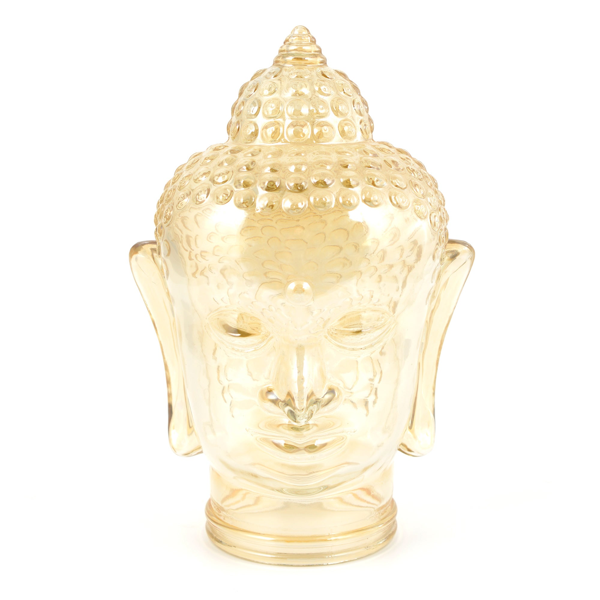 Global Fusion Collection Glass Buddha Head