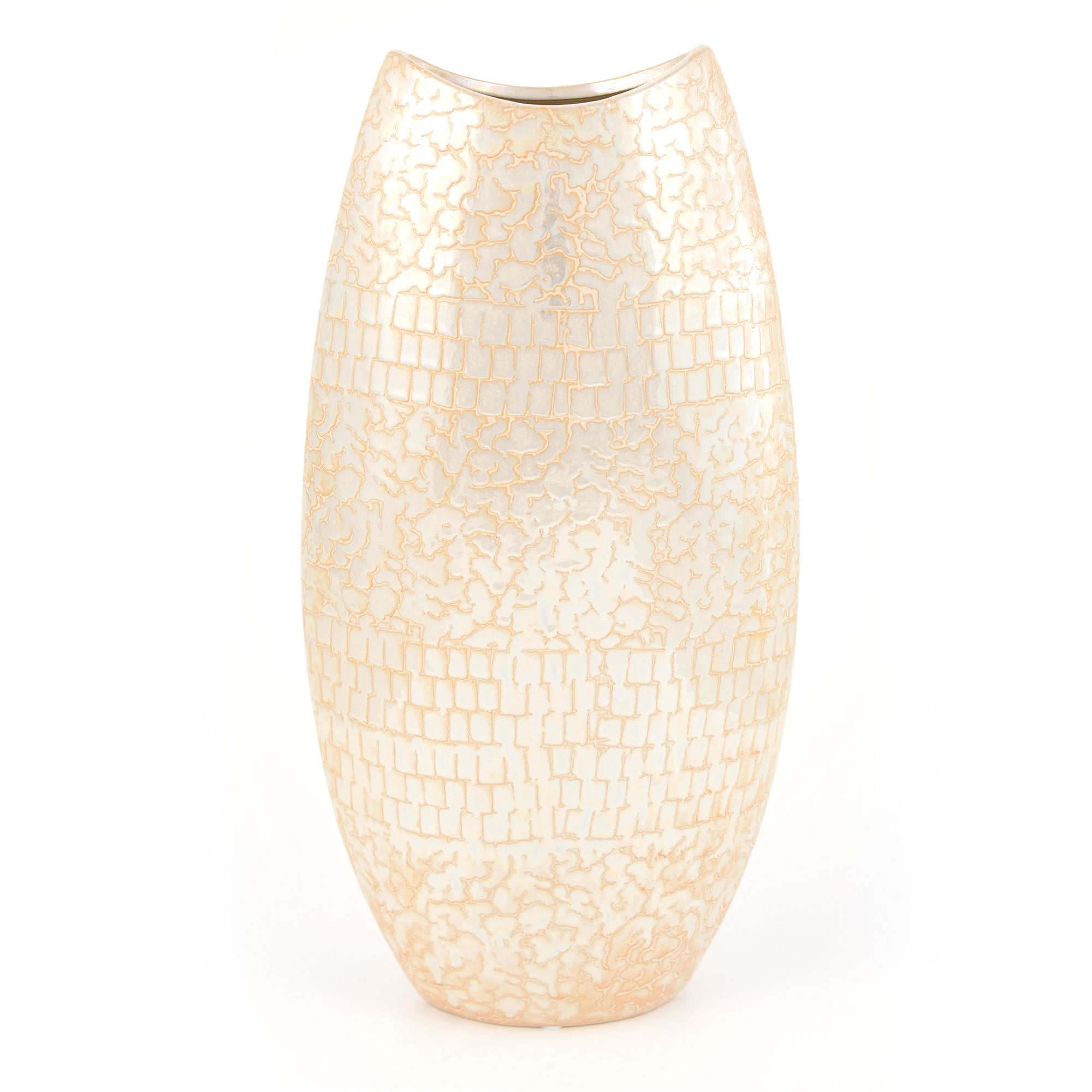Woodland Retreat Collection Pearlised Oval Vase