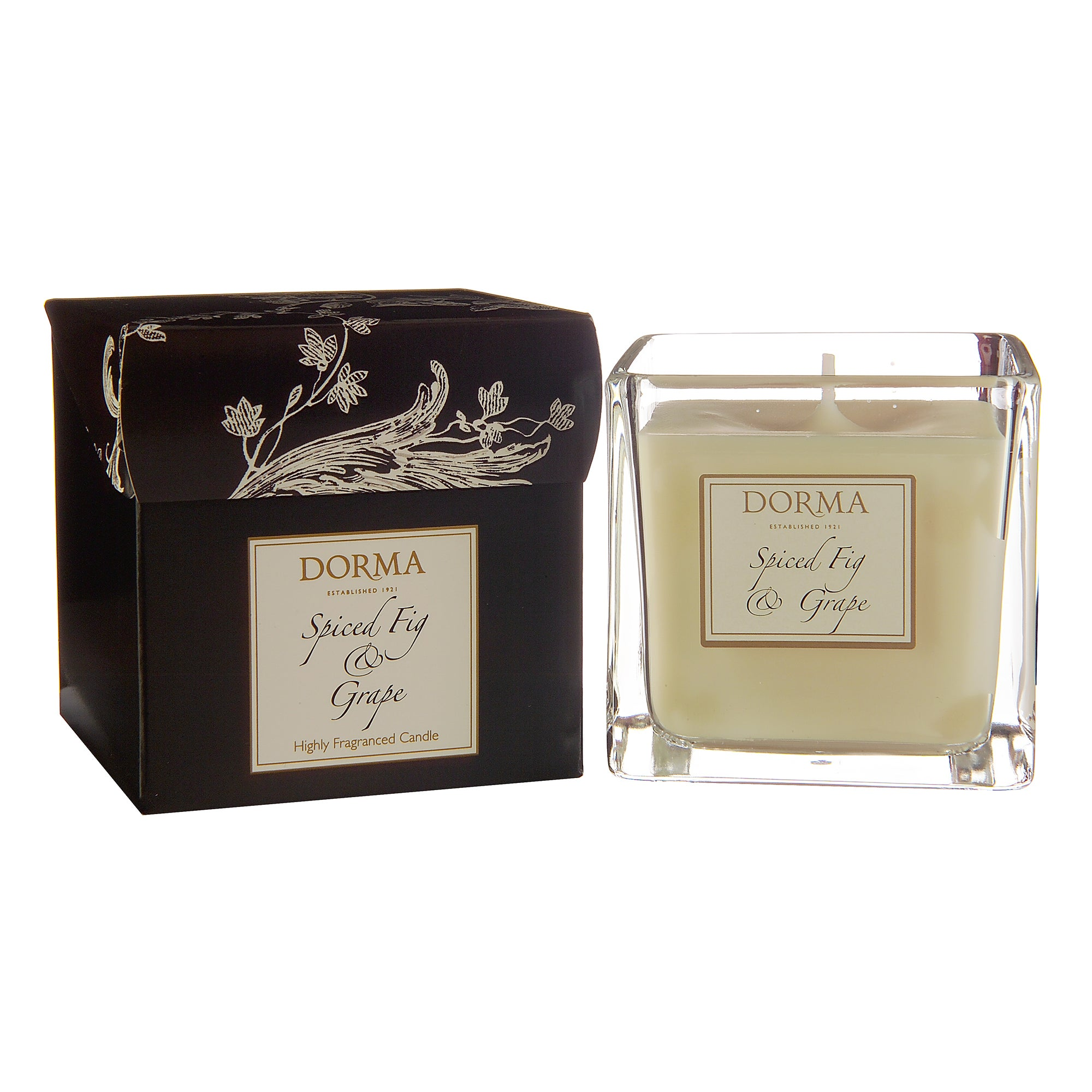 Dorma Spiced Fig and Grape Wax Filled Glass Candle