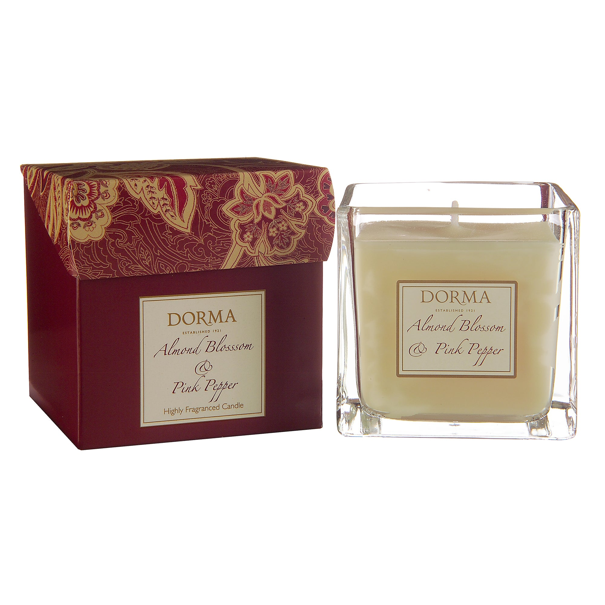 Dorma Almond Blossom and Pink Pepper Wax Filled Glass Candle