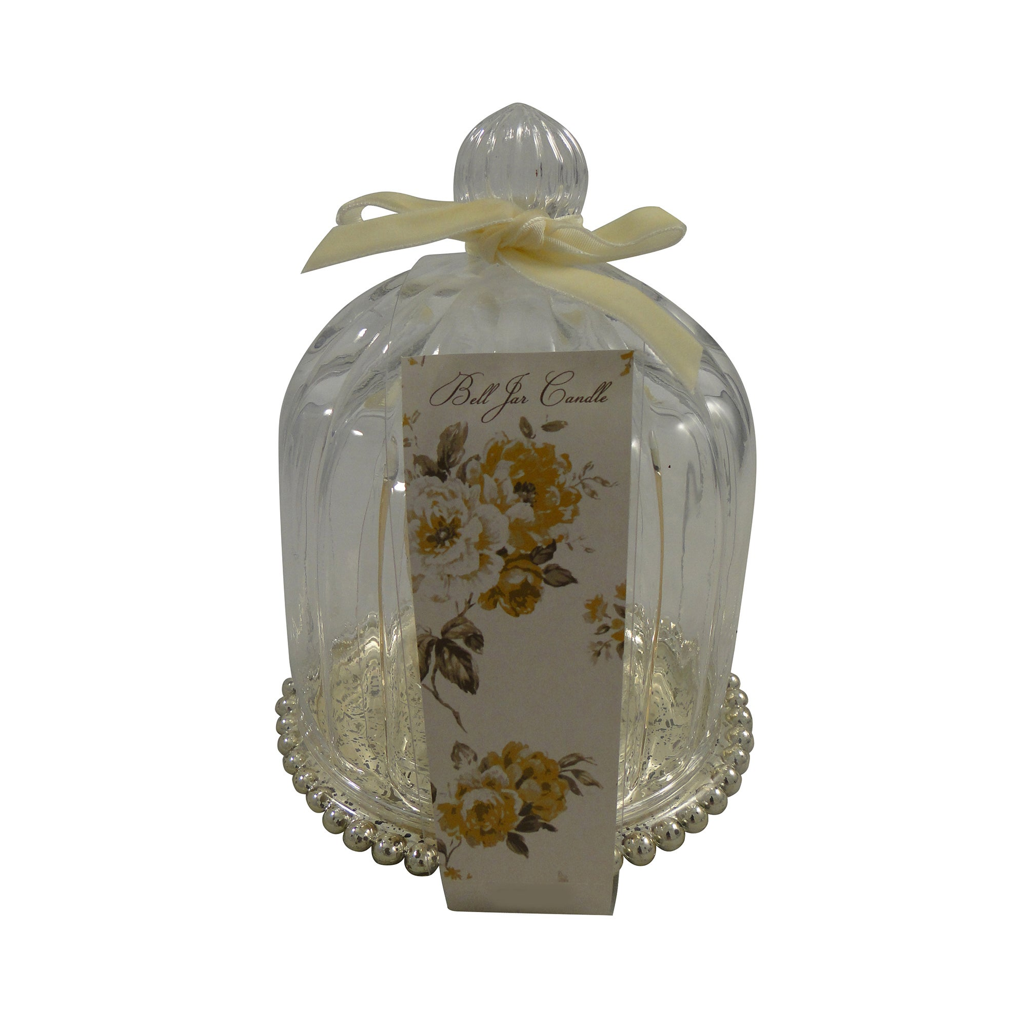 Gold Colonial Bell Jar Candle Holder
