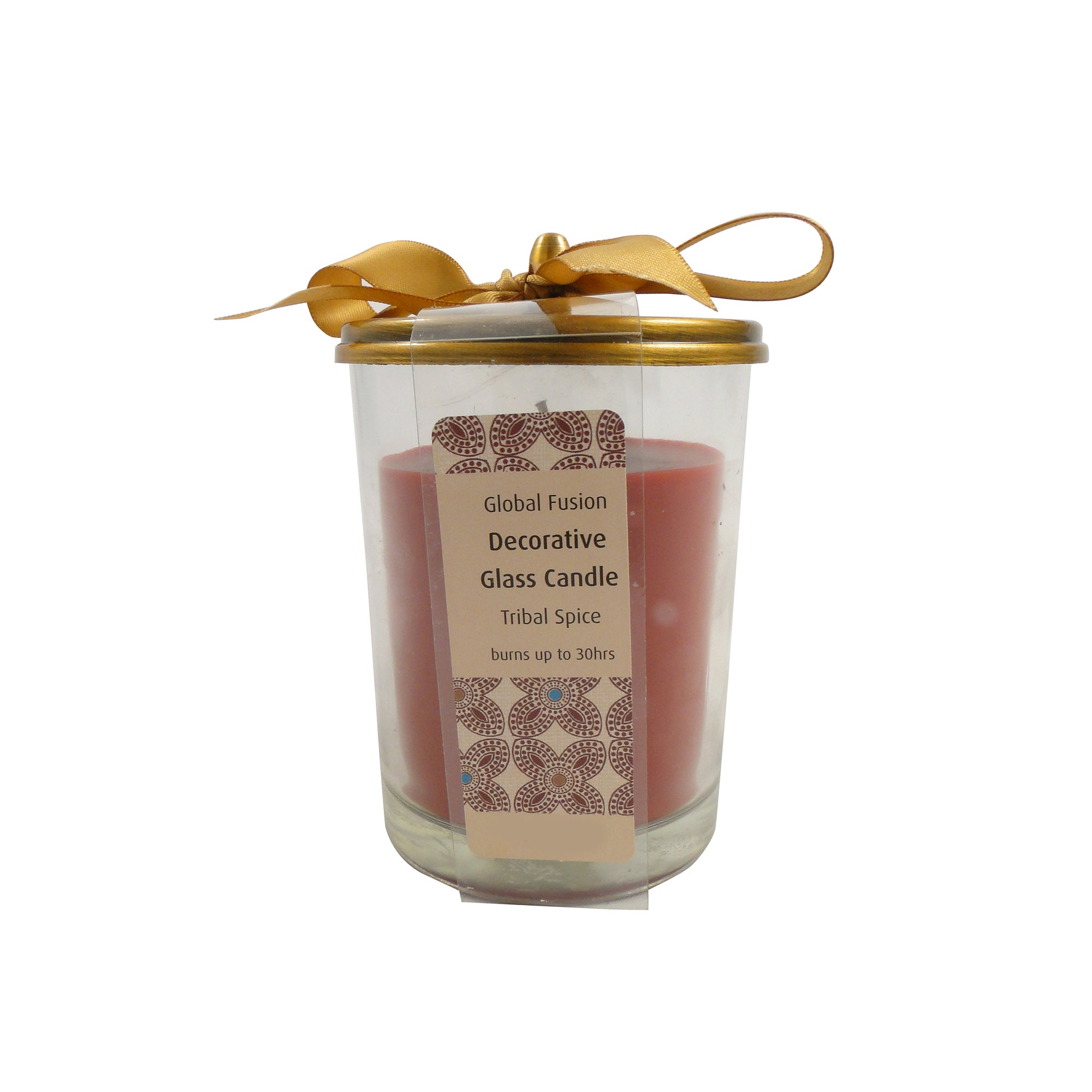 Global Fusion Tribal Spice Wax Filled Glass Candle