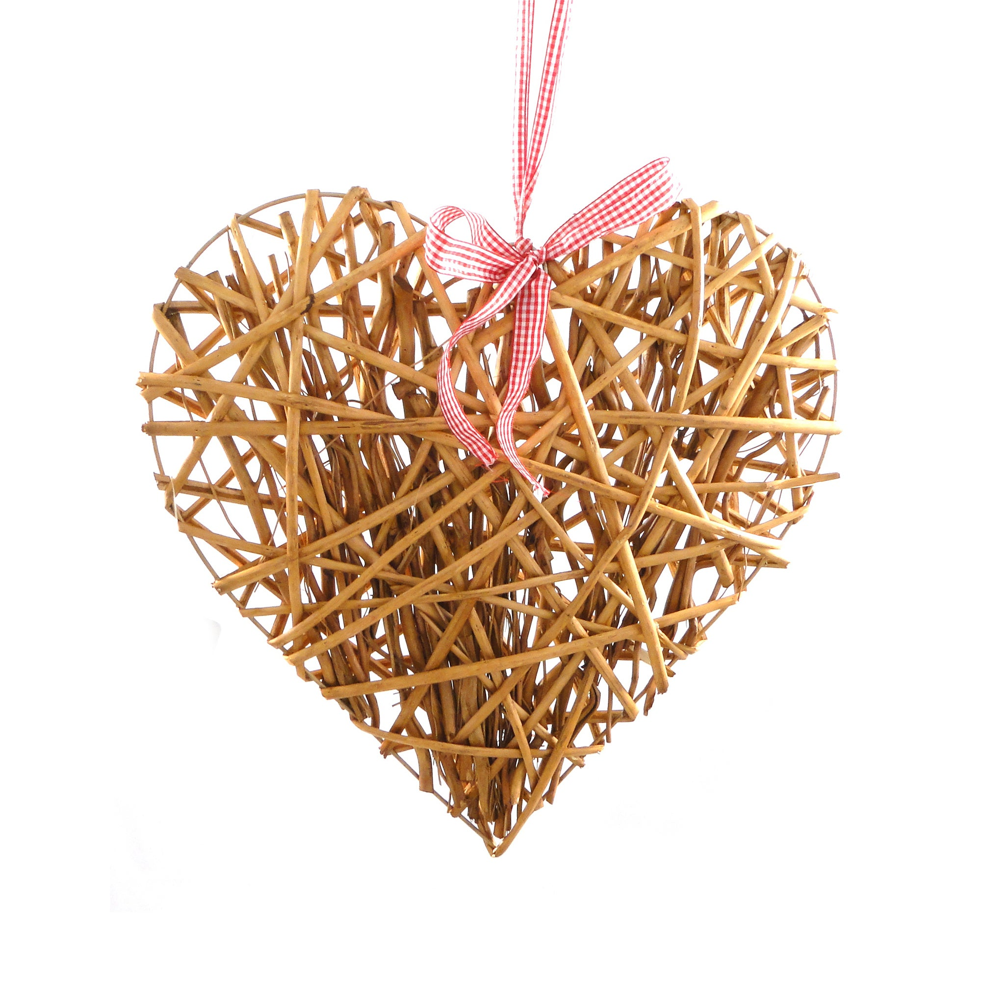 Natural Flowers Honey Willow Heart
