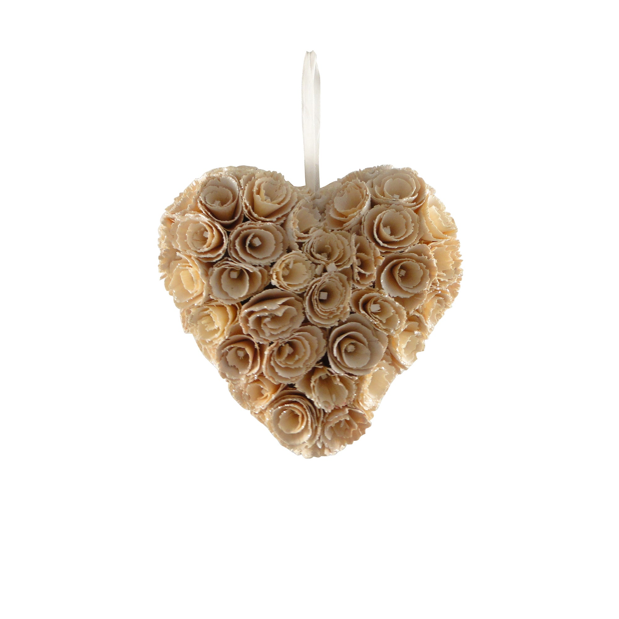Natural Flowers Wood Petal Heart